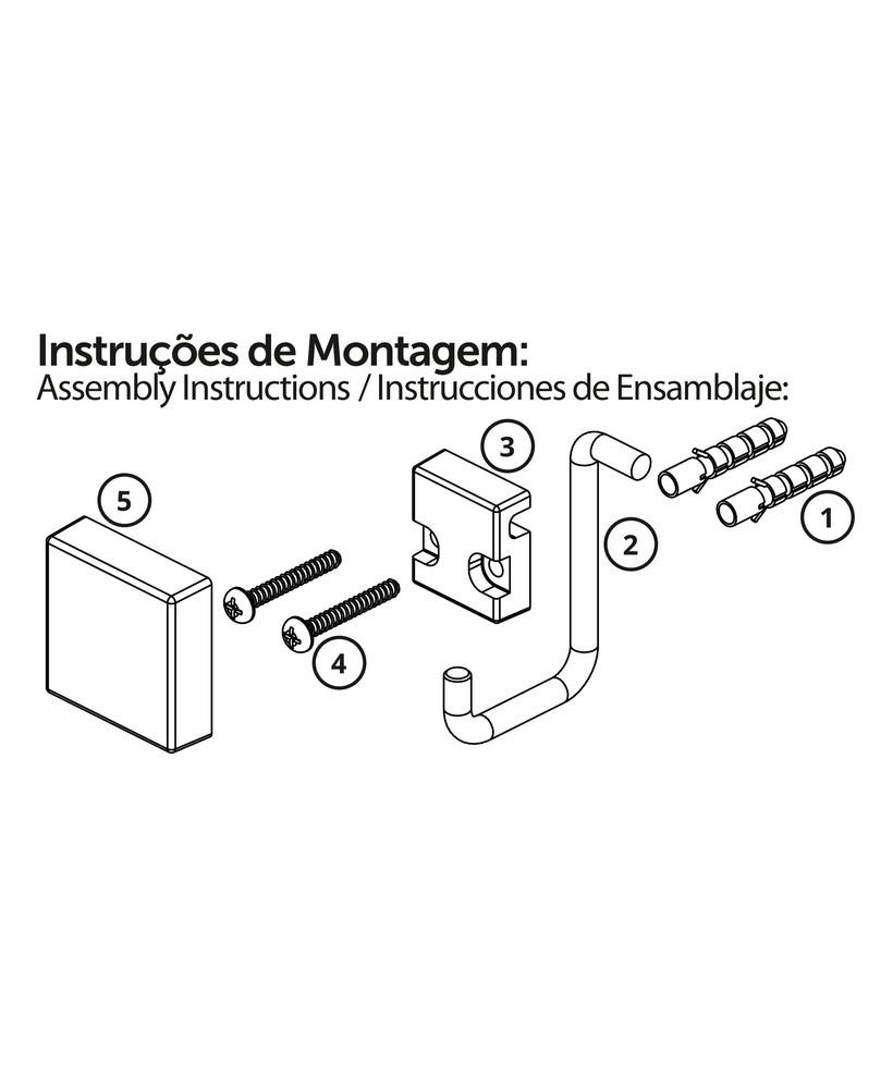 Future Toalheiro Argola 18 Cm RoséGold AçoCarbono KitFixação