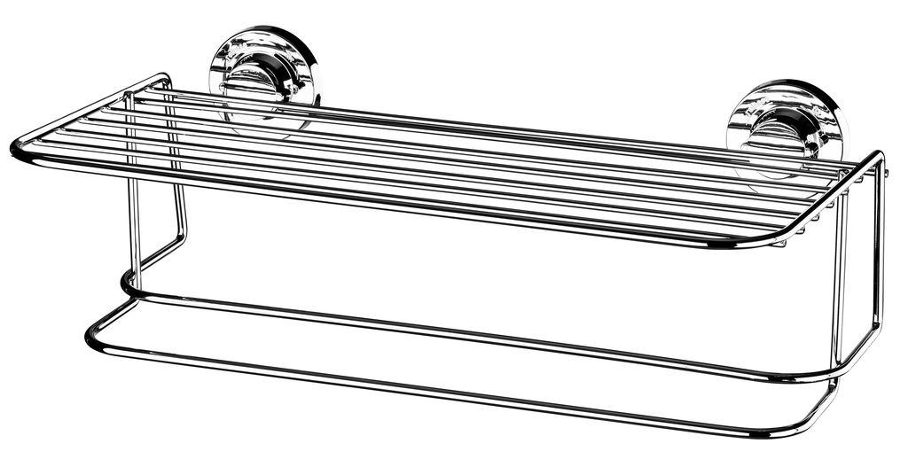 Future Toalheiro Com Prateleira Aço Carbono Com Ventosa 4023