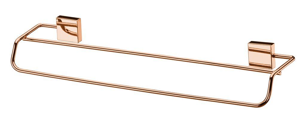 Future Toalheiro Duplo 45cm RoséGold Aço Carbono Kit Fixação