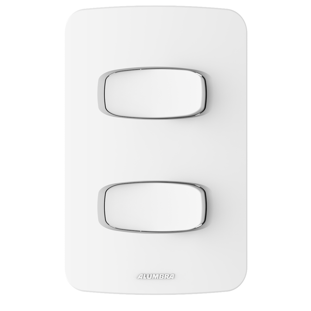 Gracia 2 Seções de Interruptor Simples Com Placa