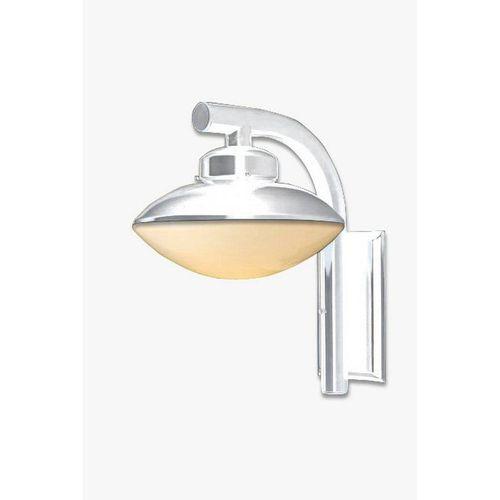 Ideal Arandela Em Aço Branca Com Vidro 227