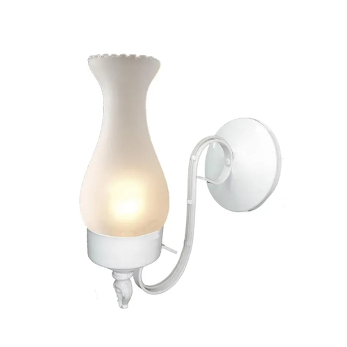 Ideal Arandela Em Aço Fosfatizado Branco 270 Com Vidro