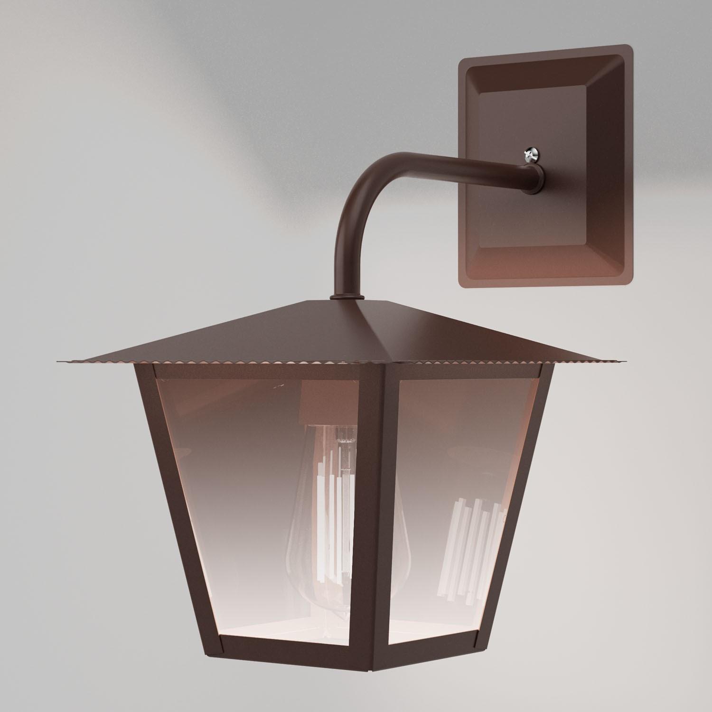 Ideal Arandela Marrom Aço Fosfatizado Vidro Espelhado L-4-B