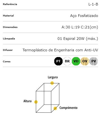 Ideal Arandela Preta em Aço Fosfatizado L-1-B