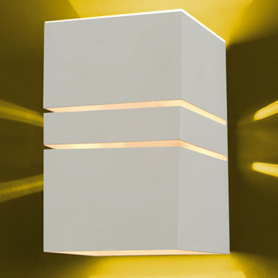Ideal Arandela Quadrada Branca de Policarbonato 1X G9 982-TV