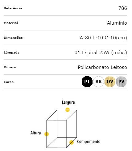 Ideal Pendente Quadrado Branco Alumínio 1 Lâmpada E-27 786
