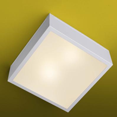 Ideal Plafon Quadrado Branco em Alumínio 660 2 Lâmpadas E-27