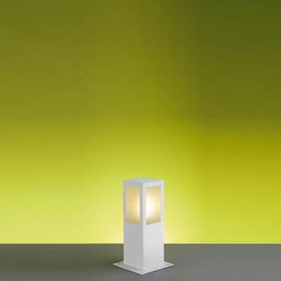 Ideal Poste Quadrado Branco em Alumínio 30cm PA-130