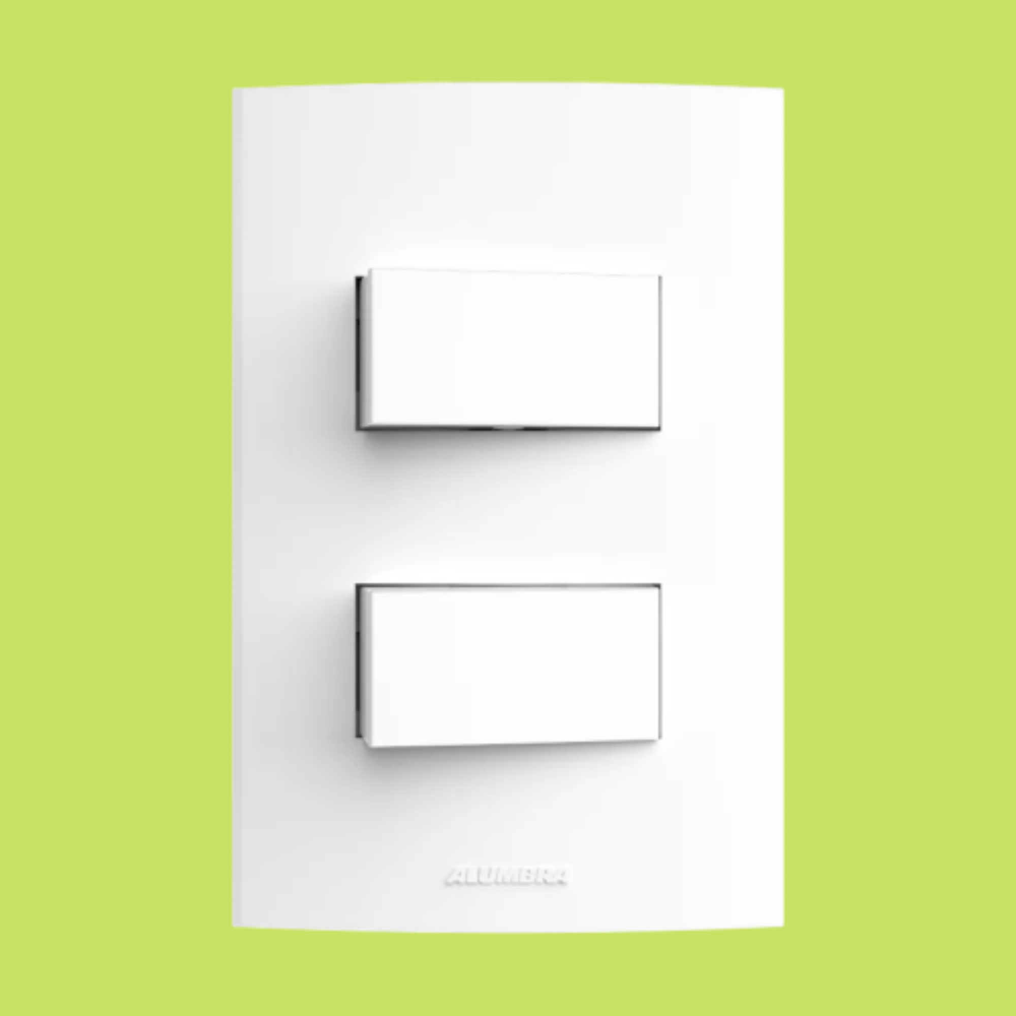 Inova Pró 2 Seções de Interruptor Simples Com Placa