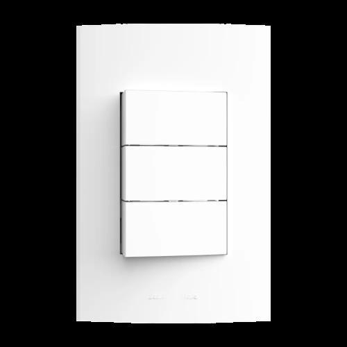 Inova Pró 3 Seções de Interruptor Simples Com Placa