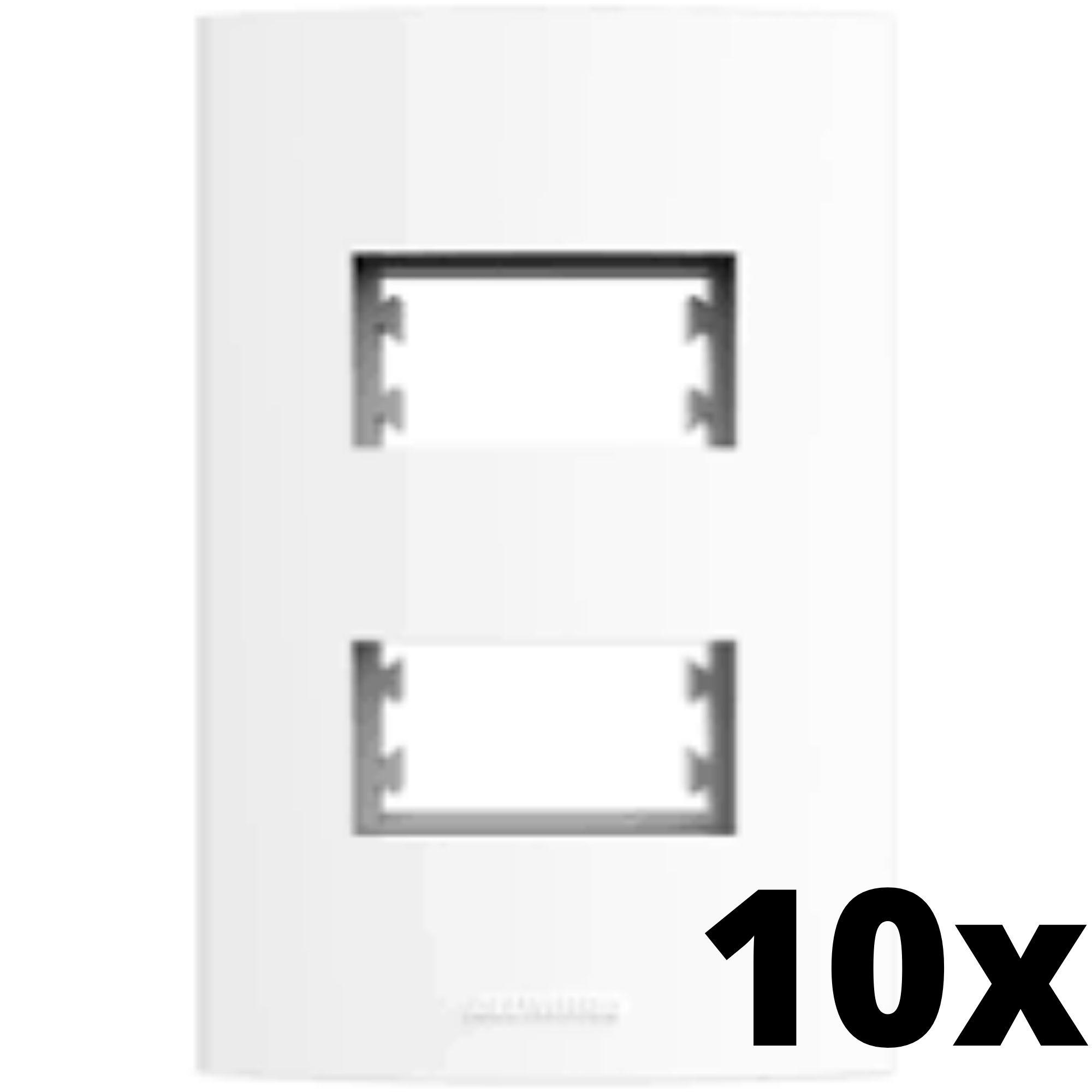 Kit 10 und Alumbra Bianco Pró Placa 4x2 2 Seções Distanciadas