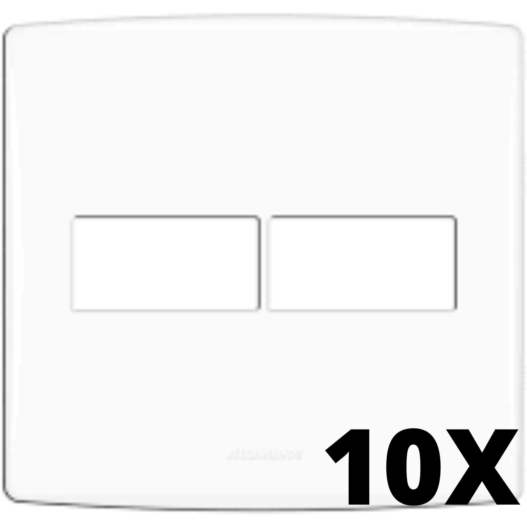 Kit 10 und Alumbra Bianco Pró Placa 4x4 1 Seção + 1 Seção