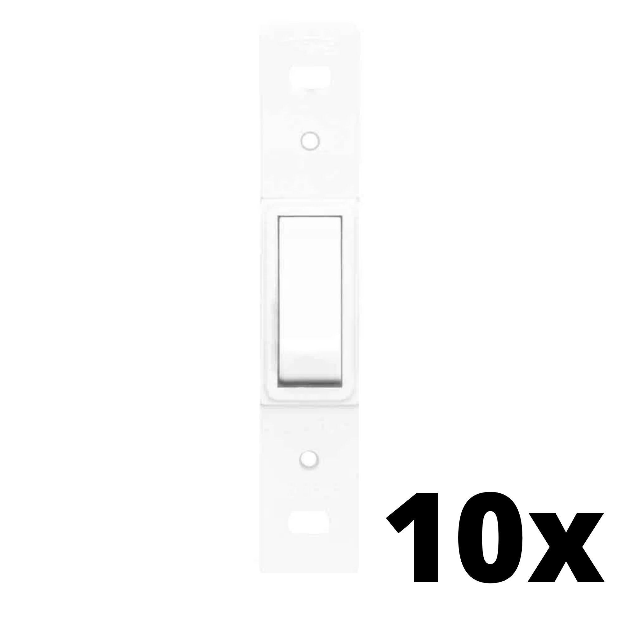 Kit 10 und Blanc 1 Seção de Interruptor Simples Sem Placa