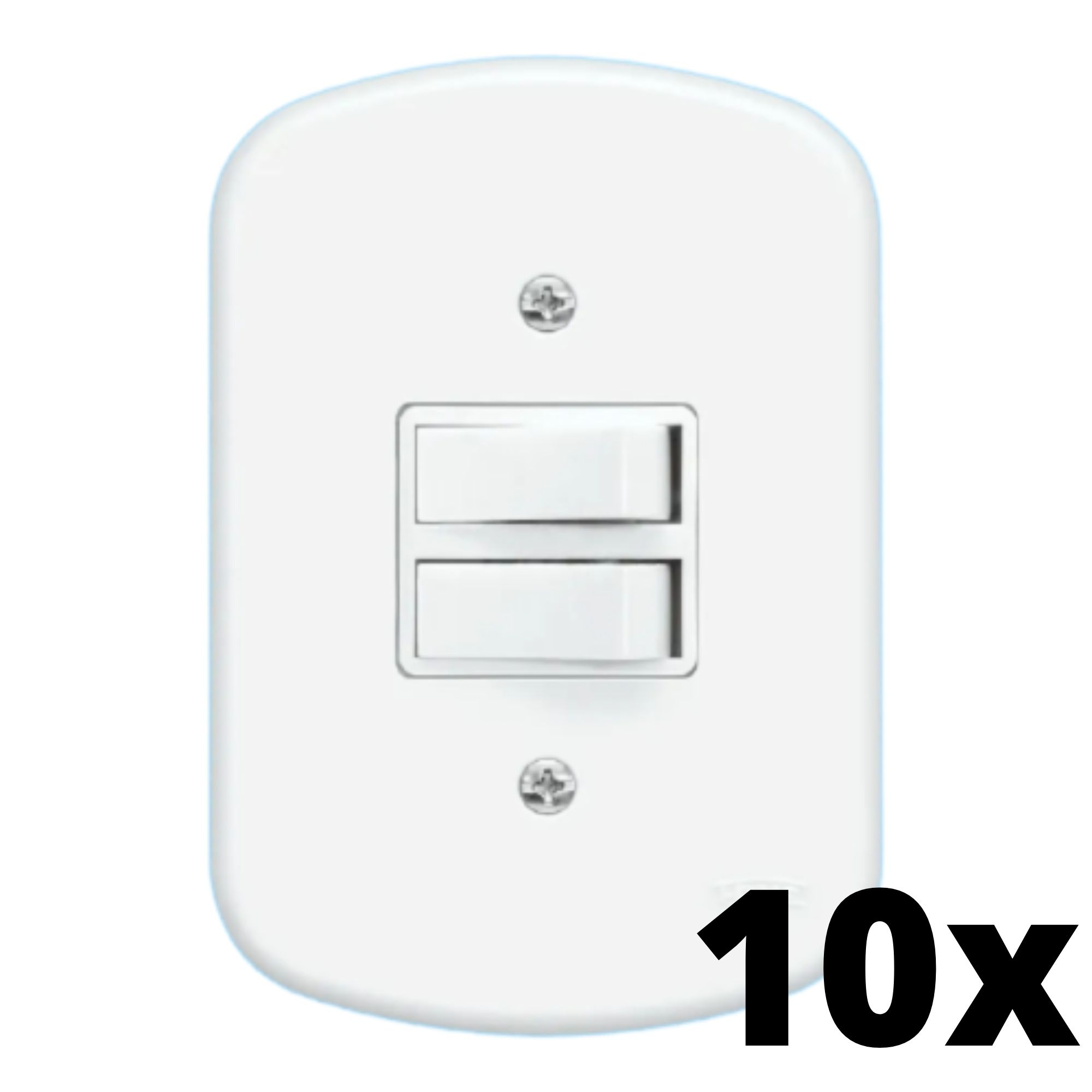 Kit 10 und Blanc 1Seç Interrupt Simples+1Seç Interrupt Paralelo + Placa
