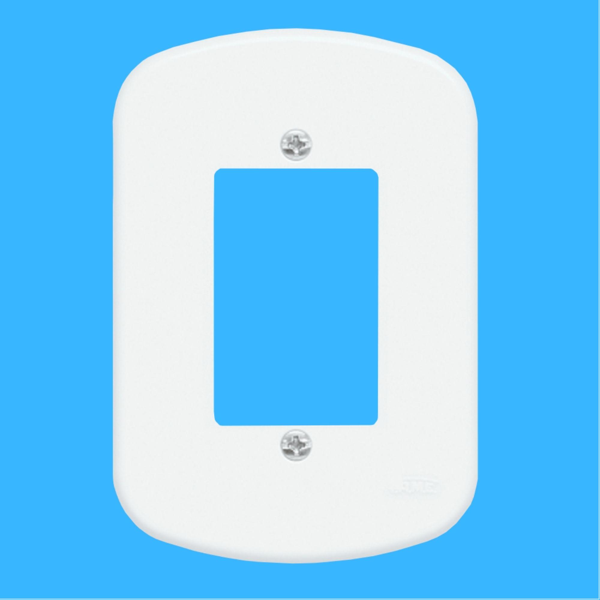 Kit 10 und  Blanc Placa 4x2 3 Seções