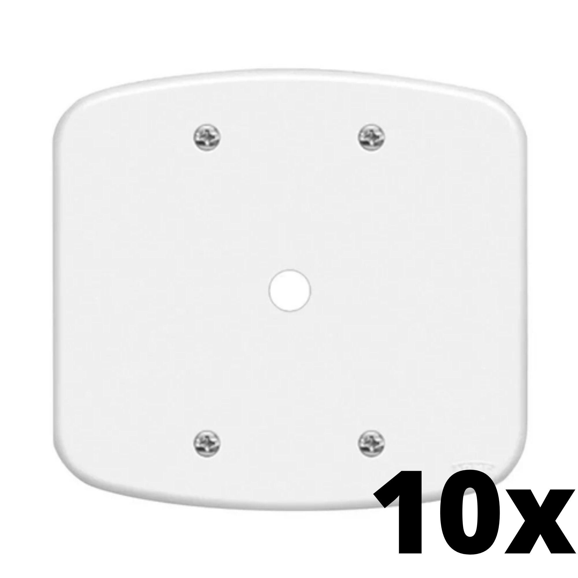 kit 10 und Blanc Placa 4x4 Com Furo