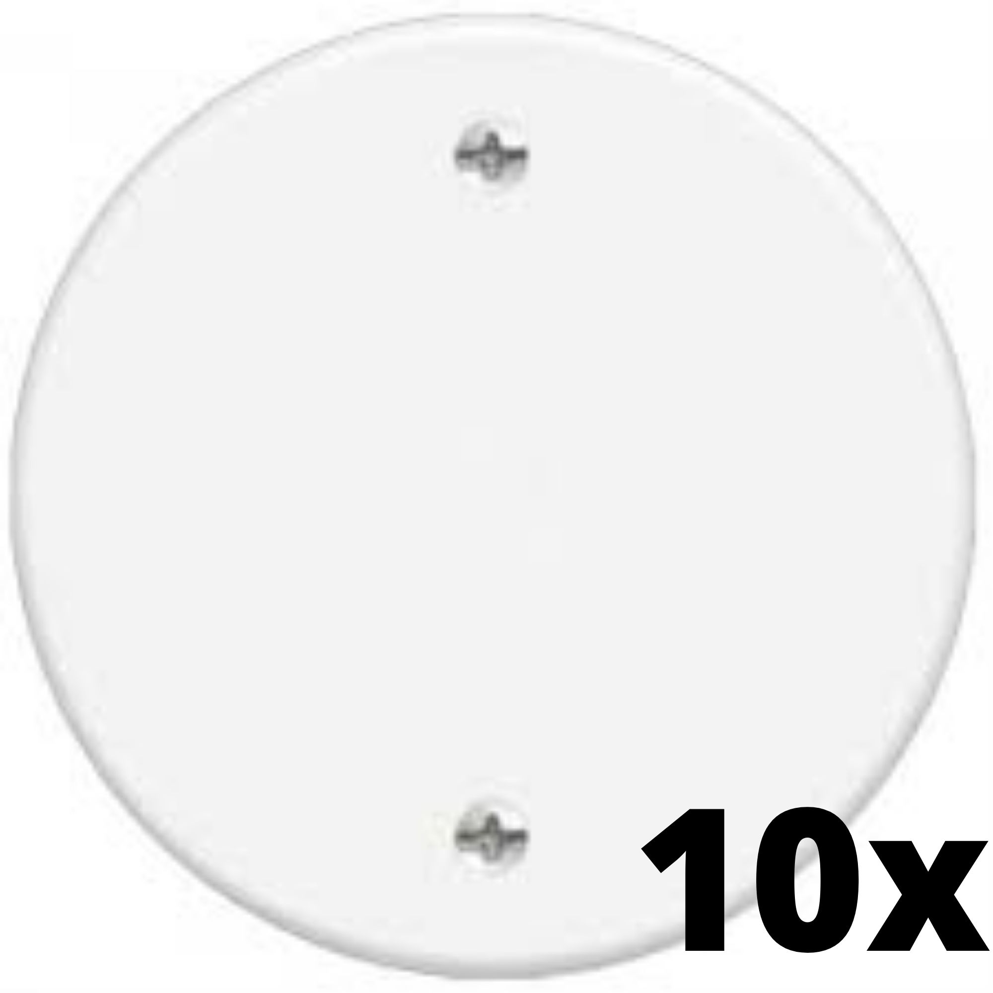 Kit 10 und Blanc Placa Redonda Cega 3 Cm