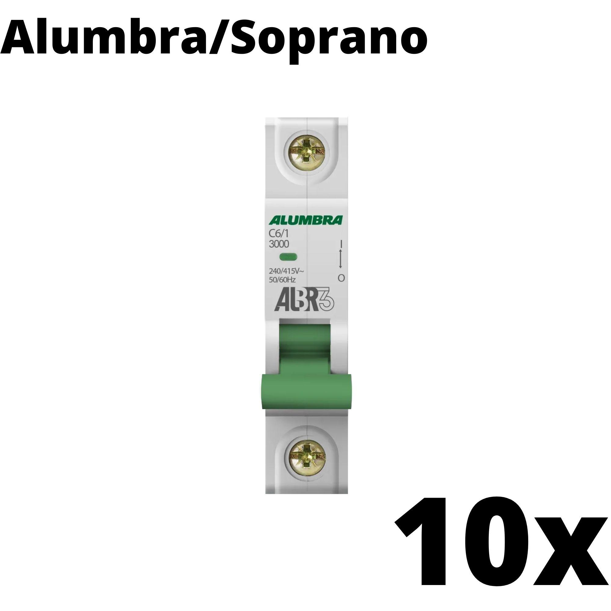 Kit 10 und Disjuntor Din Mono 06A