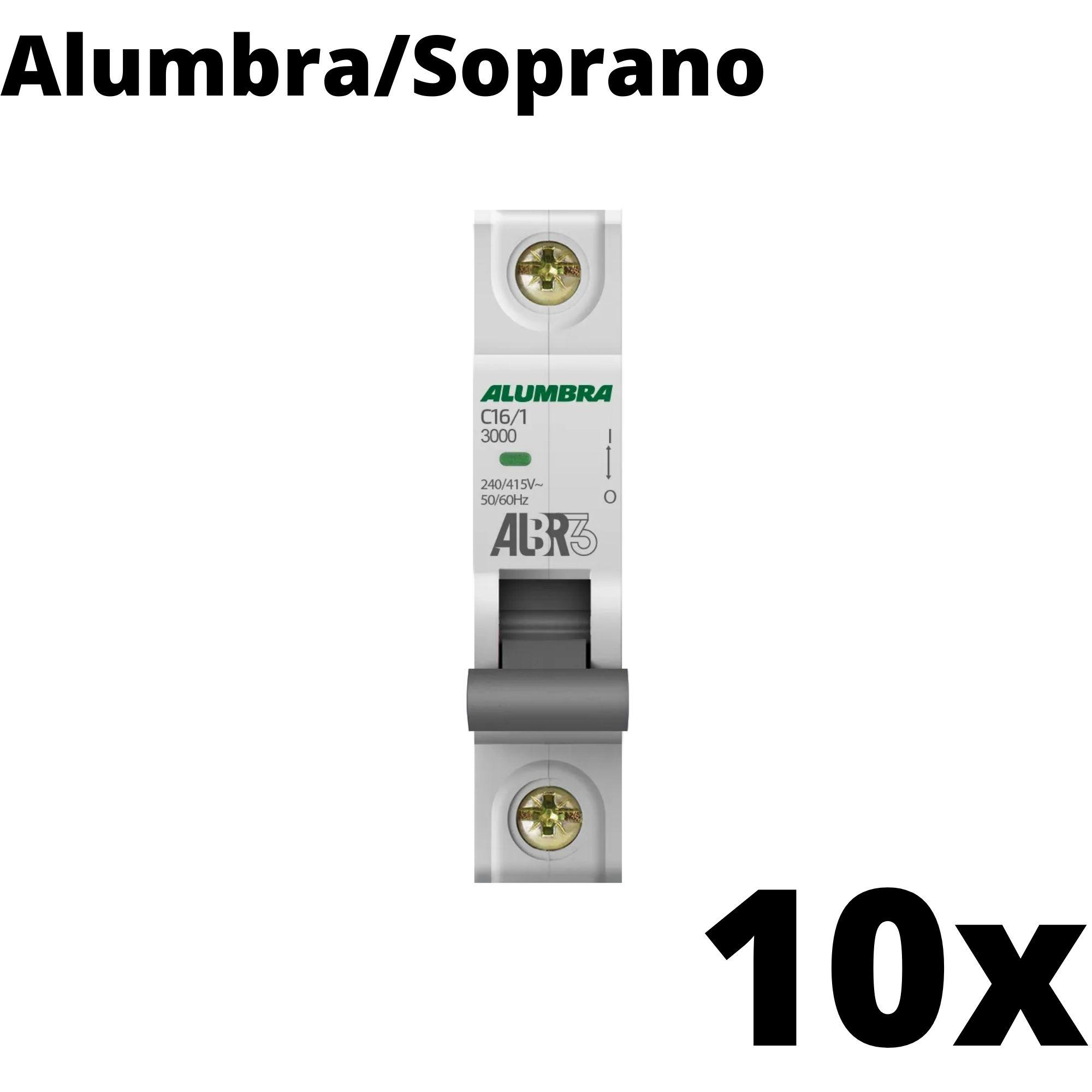 Kit 10 und Disjuntor Din Mono 16A
