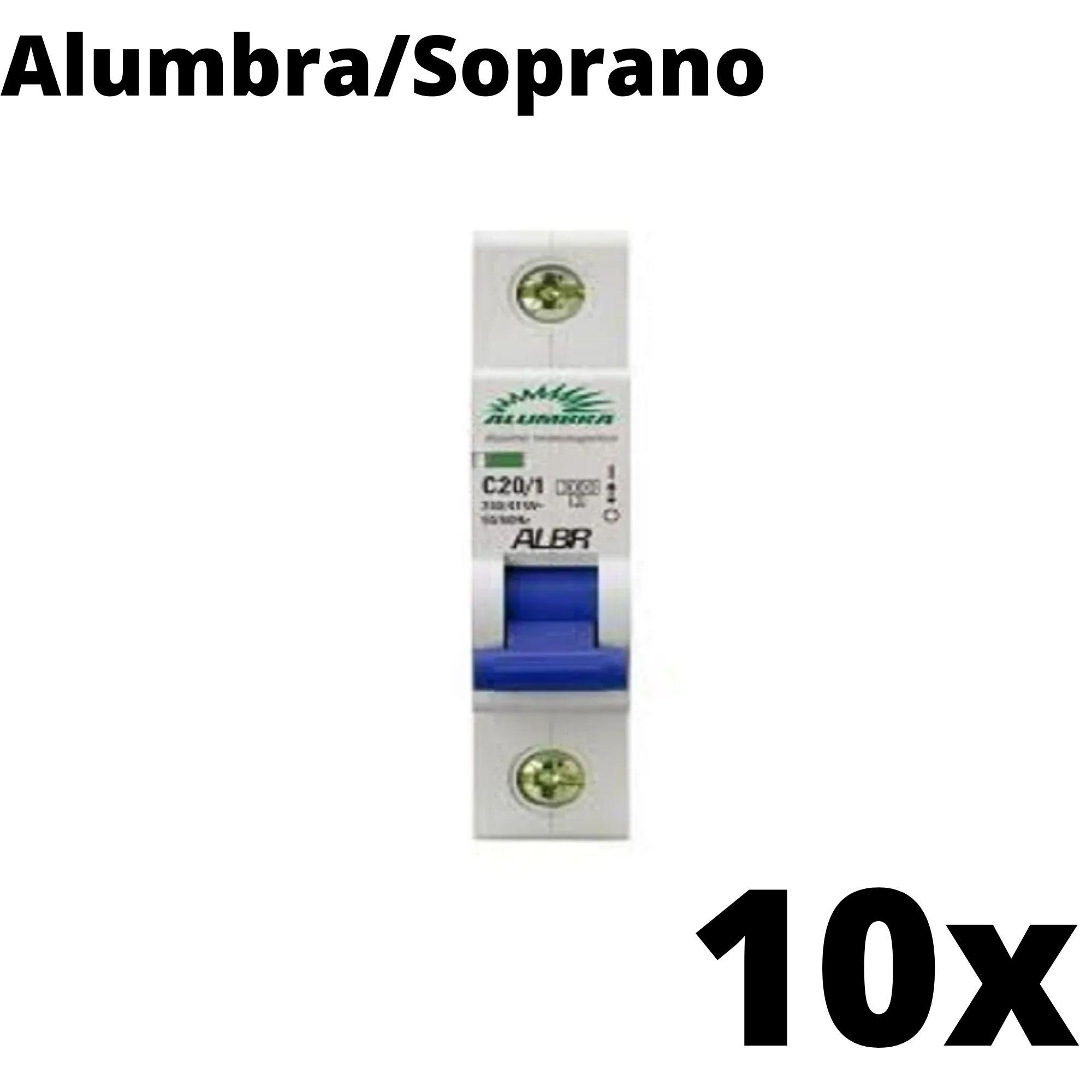 Kit 10 und Disjuntor Din Mono 20A