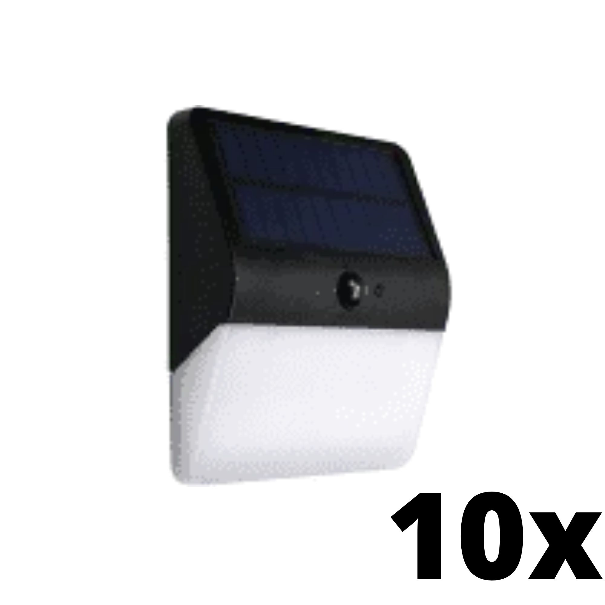 Kit 10 und Ecoforce Arandela Solar Com Sensor Presenca 400 Lumens 6000k