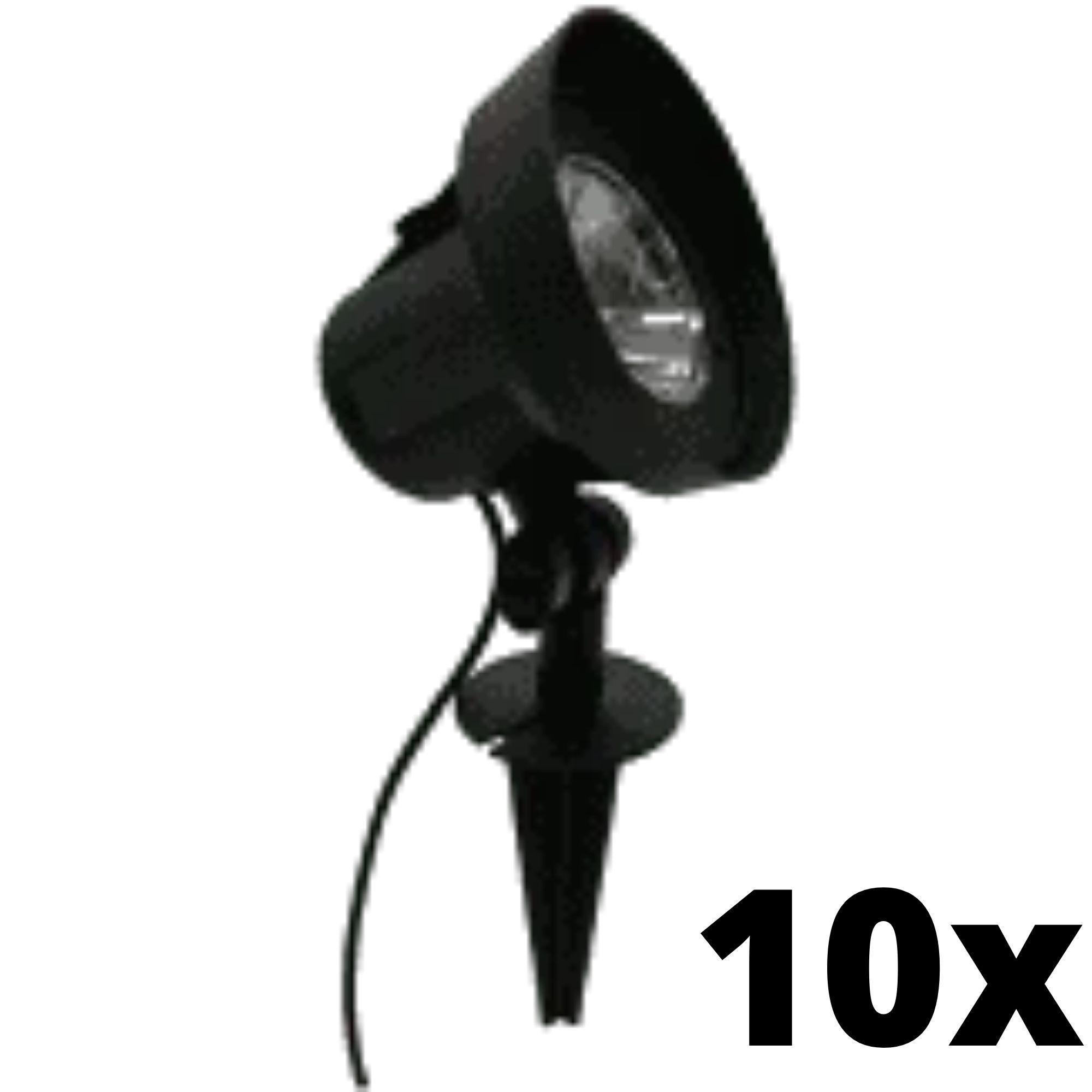 Kit 10 und Ecoforce Espeto Spot Led Com Fotocelula 5w Verde 300 Lumens