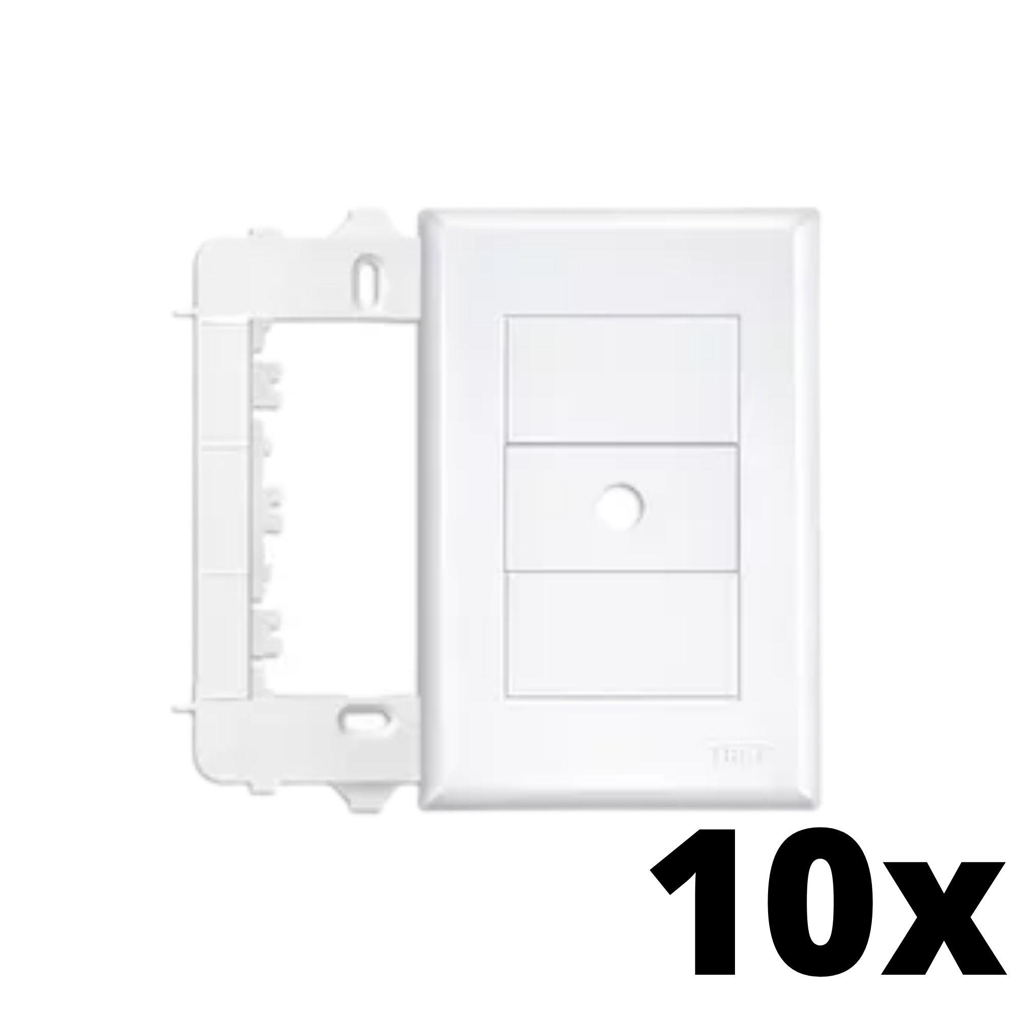Kit 10 und Evidence Placa 4x2 Com Furo