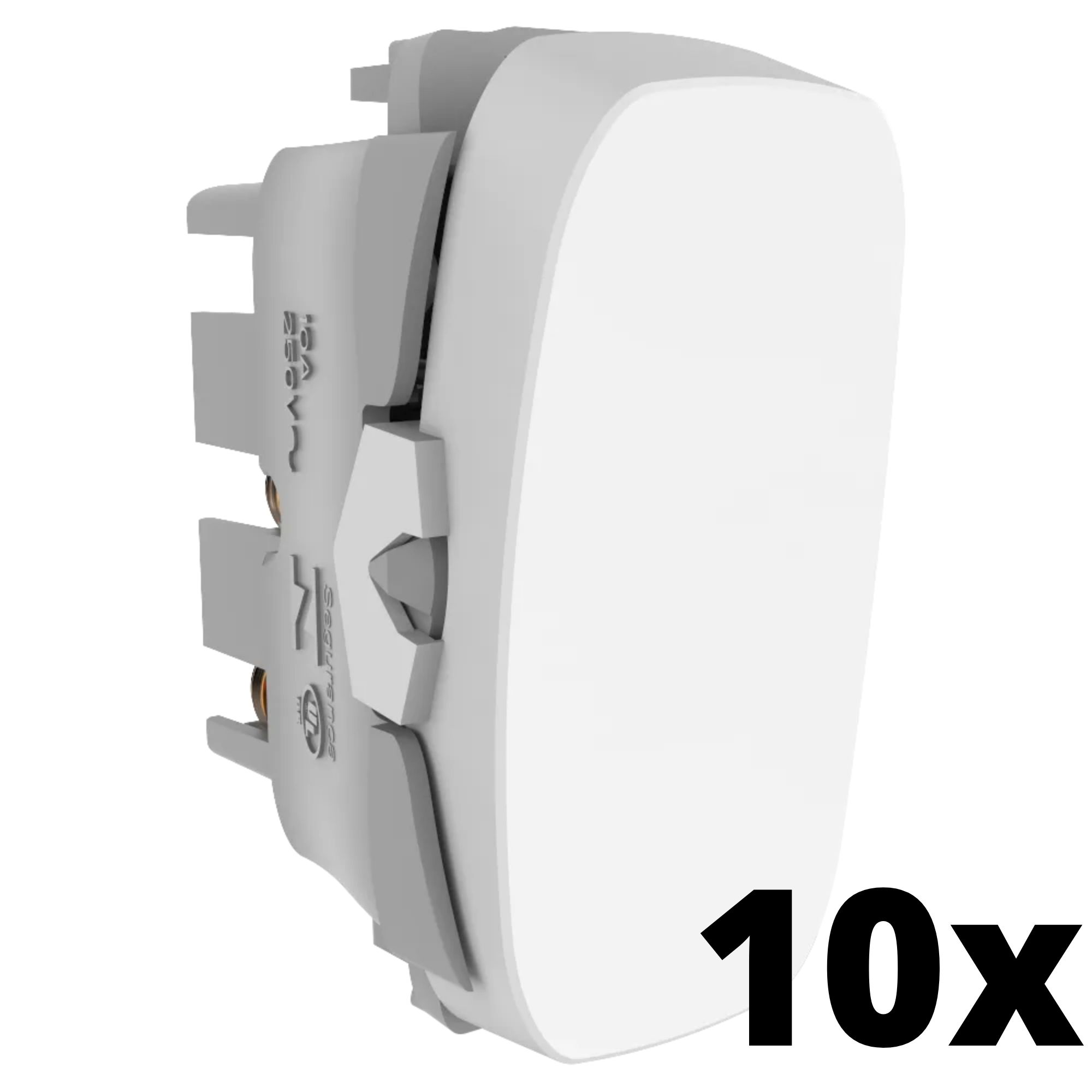 Kit 10 und Gracia Módulo de Interruptor Simples