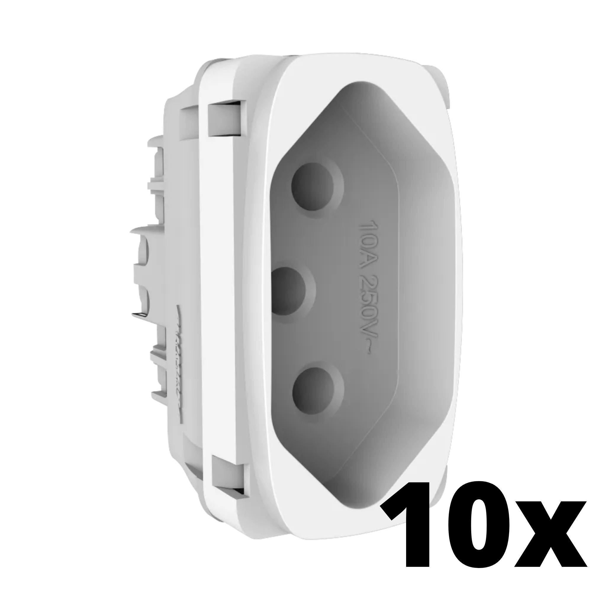 Kit 10 und Gracia Módulo de Tomada 10A