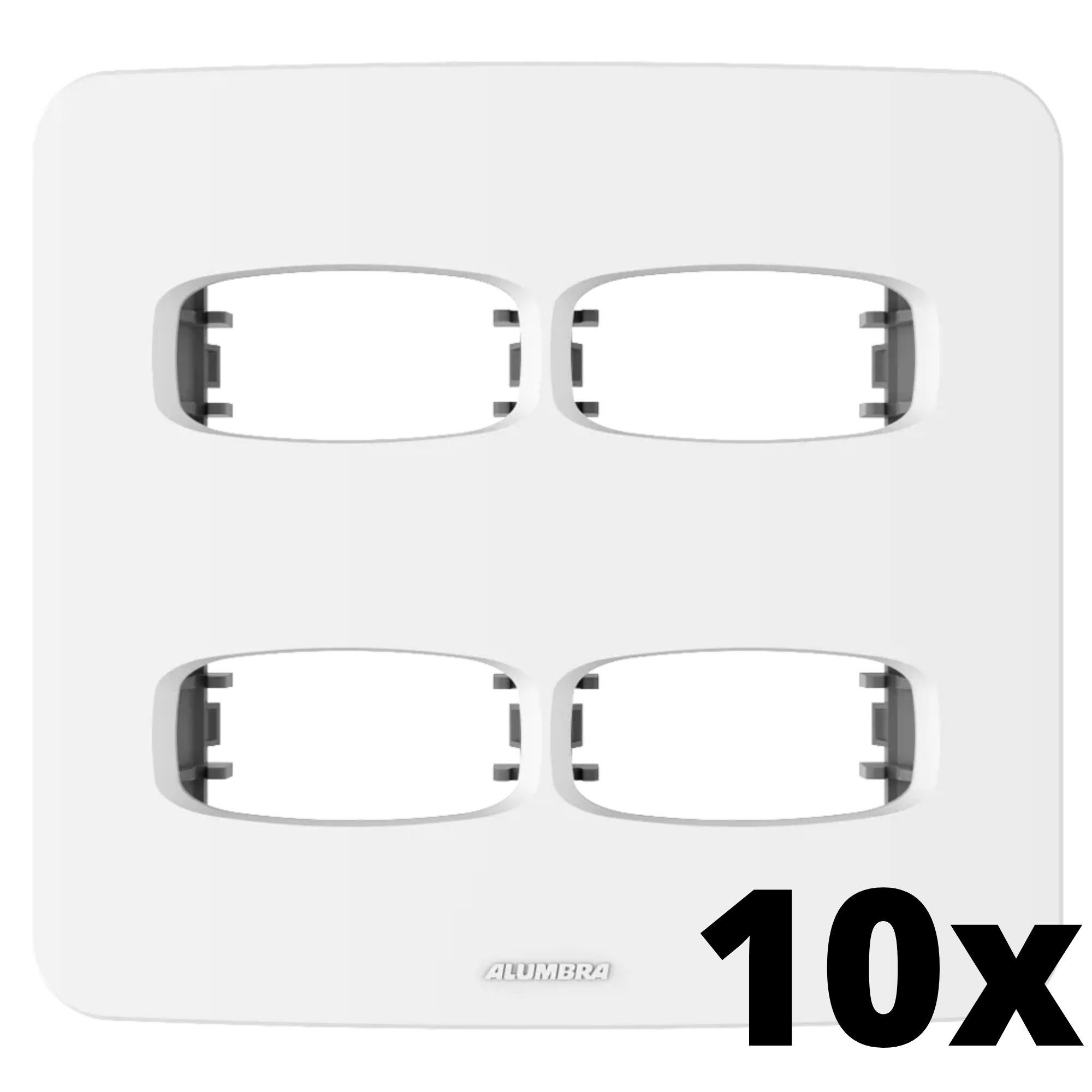 Kit 10 und Gracia Placa 4x4 2 Seções + 2 Seções