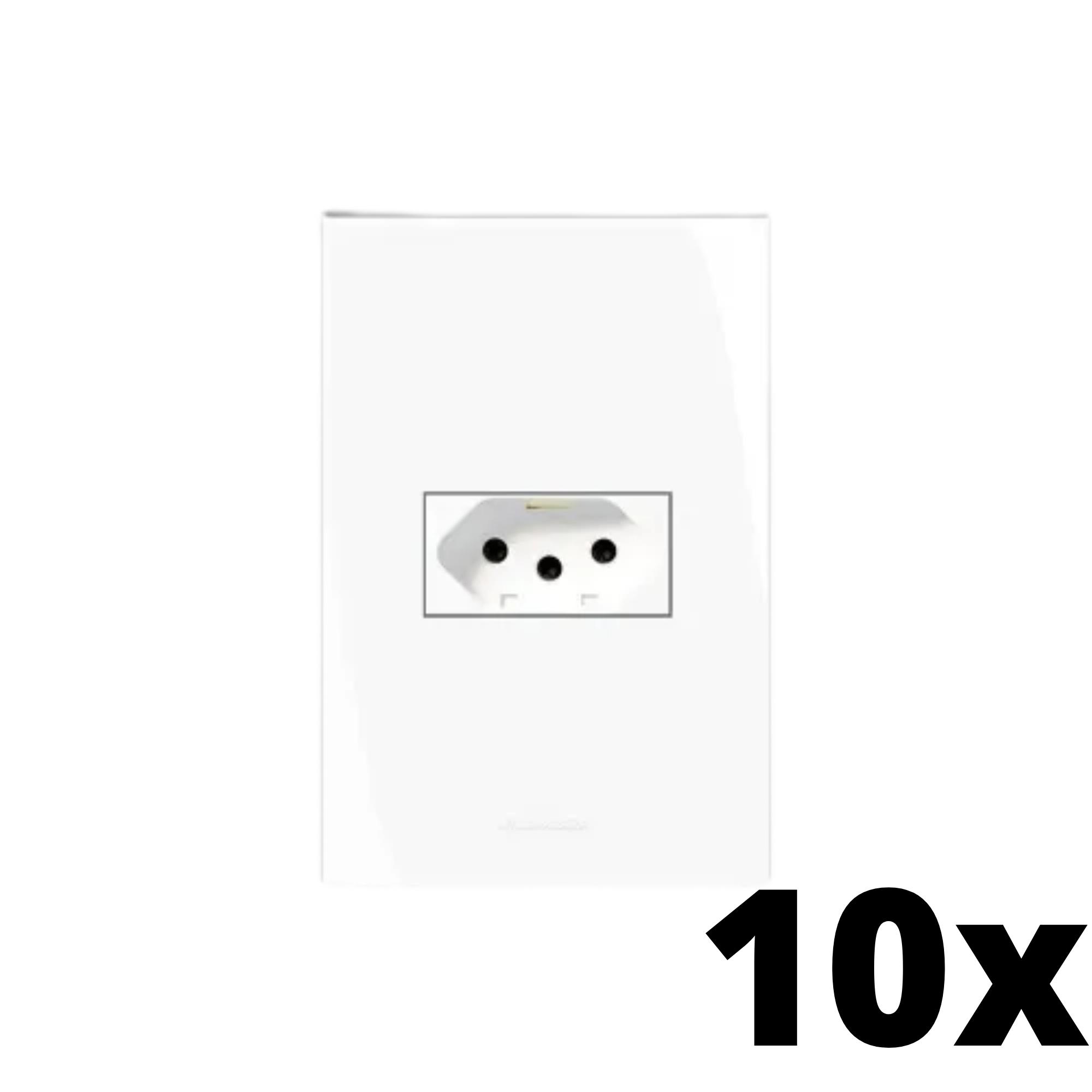 Kit 10 und Inova Pró 1 Seção de Tomada 10A