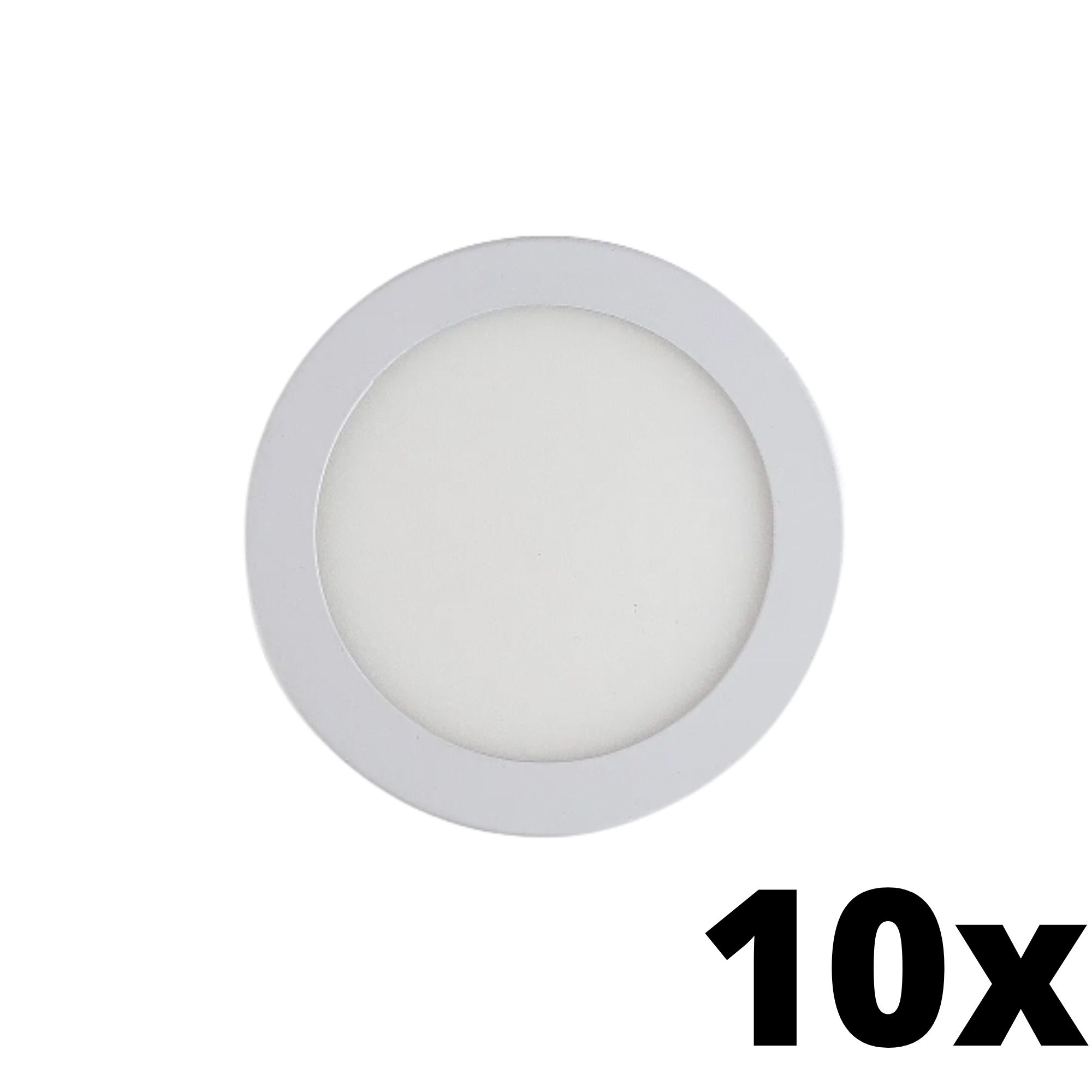 Kit 10 und Painel de Led Embutir 12w Redondo 6500k