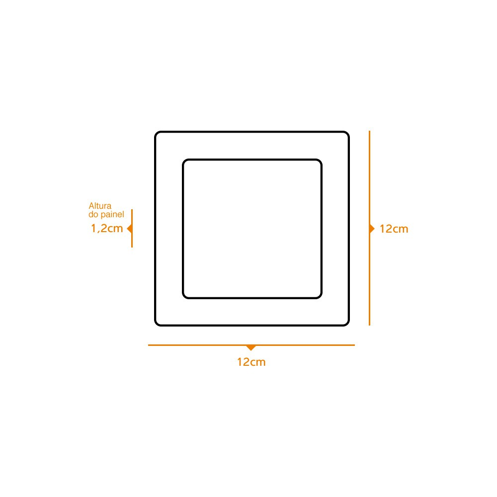 Kit 10 und Painel de Led Embutir 6w Quadrado 6500k