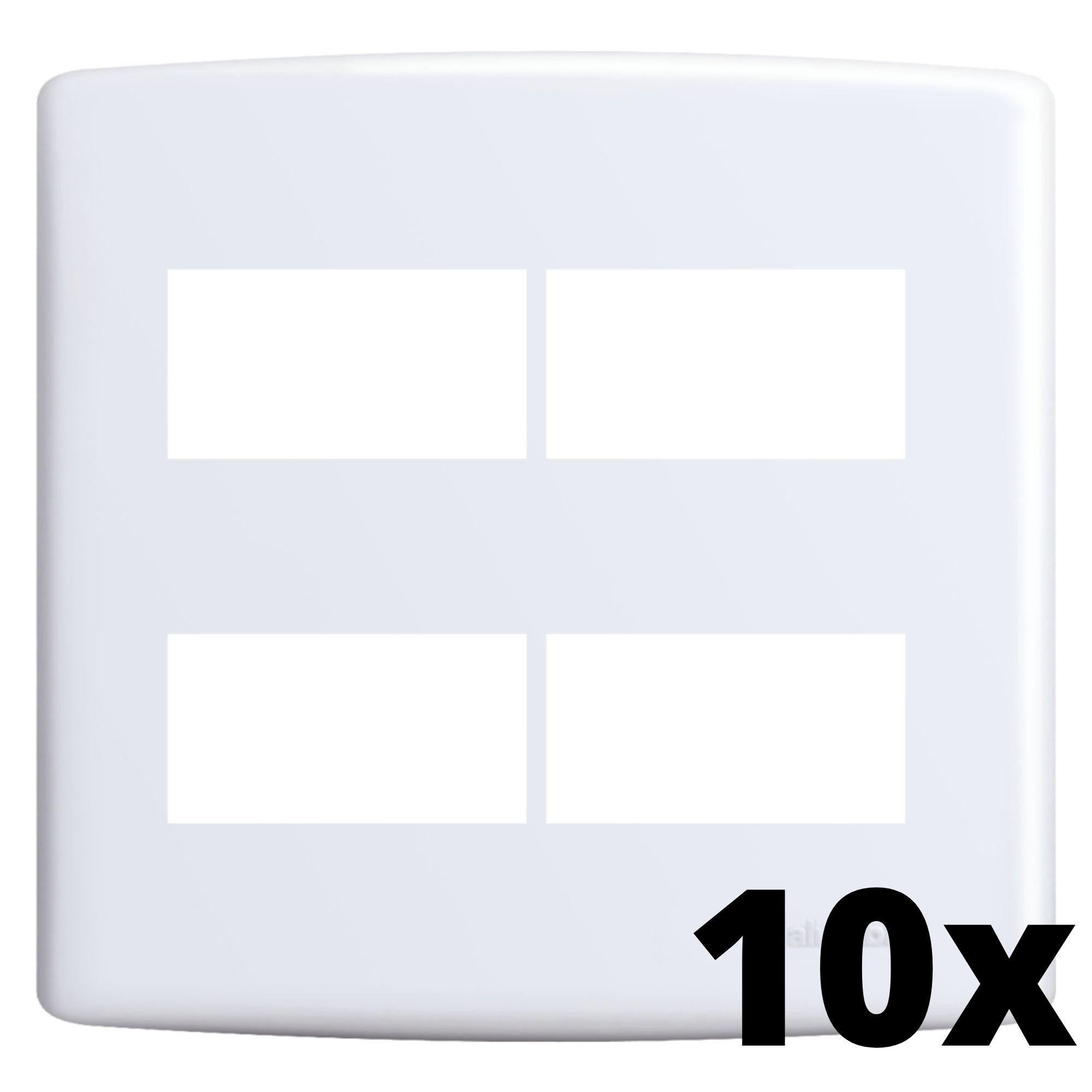 Kit 10 und Siena Placa 4x4 2 Seções + 2 Seções Distanciadas