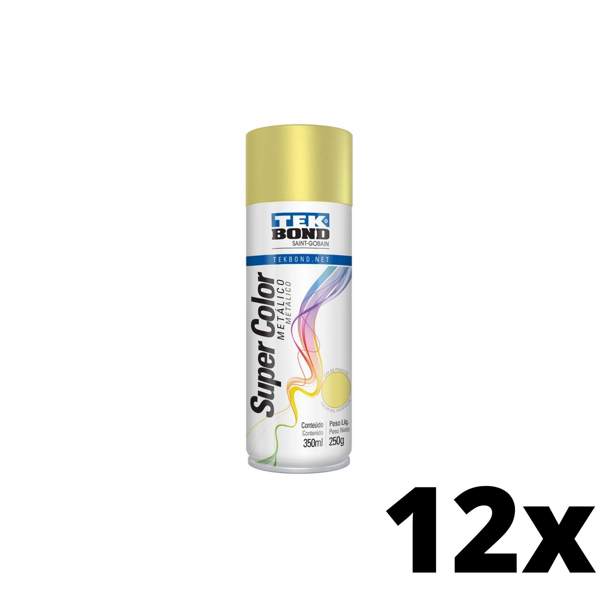 Kit 12 und Tinta Spray Dourada Metálico