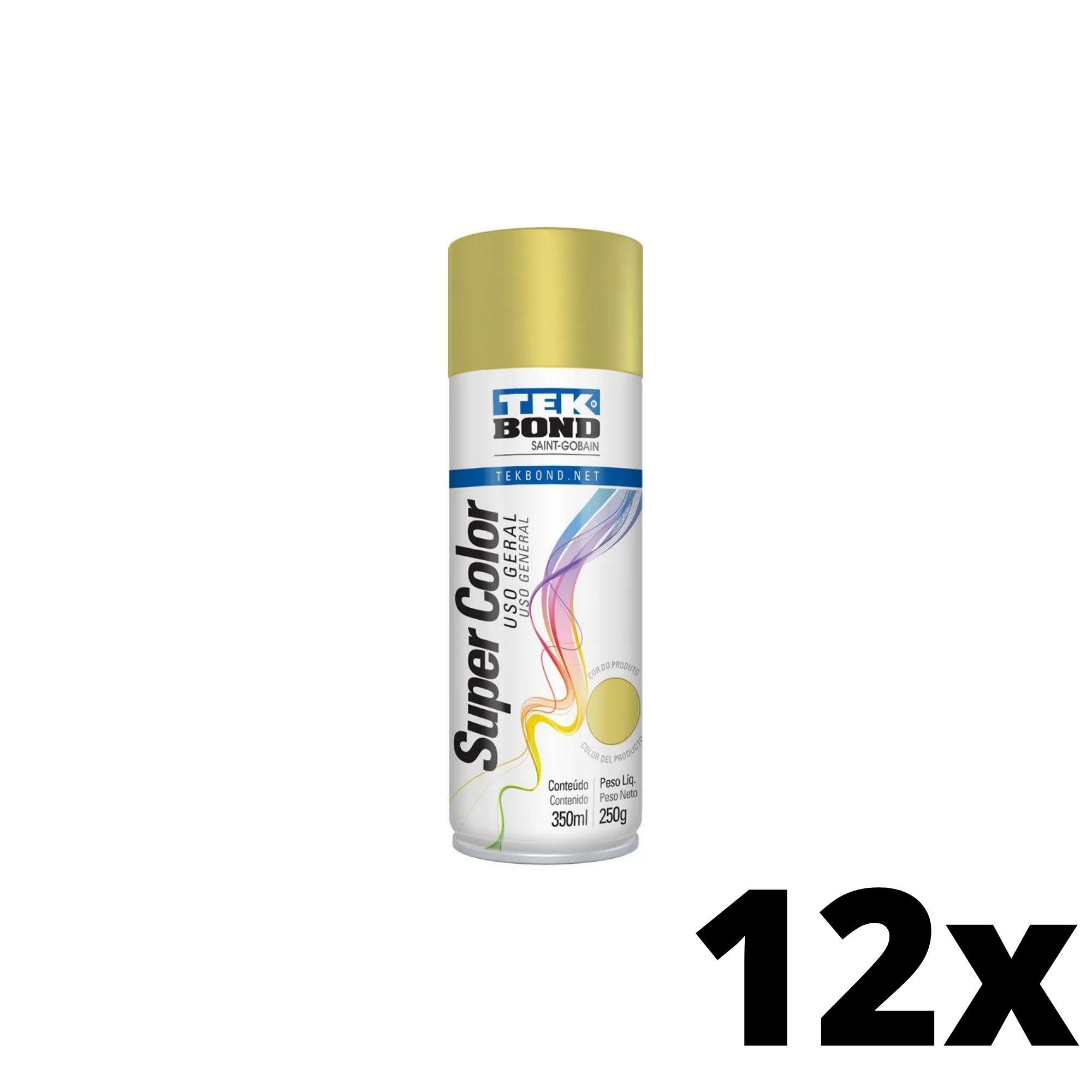 Kit 12 und Tinta Spray Dourado