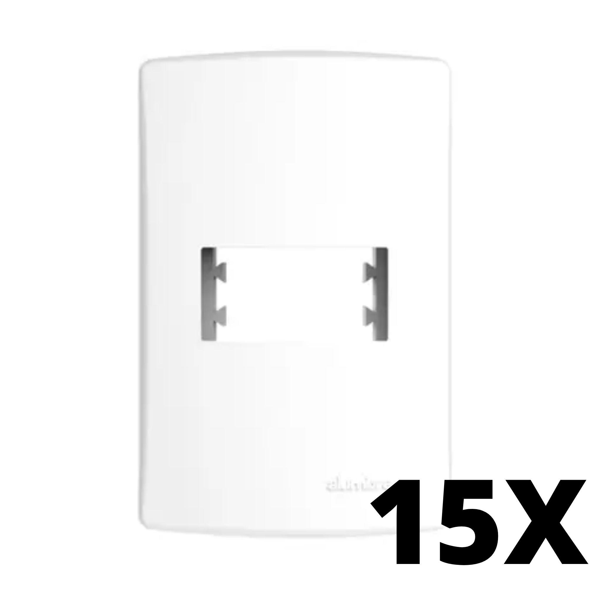 Kit 15 und Alumbra Bianco Pró Placa 4x2 1 Seção