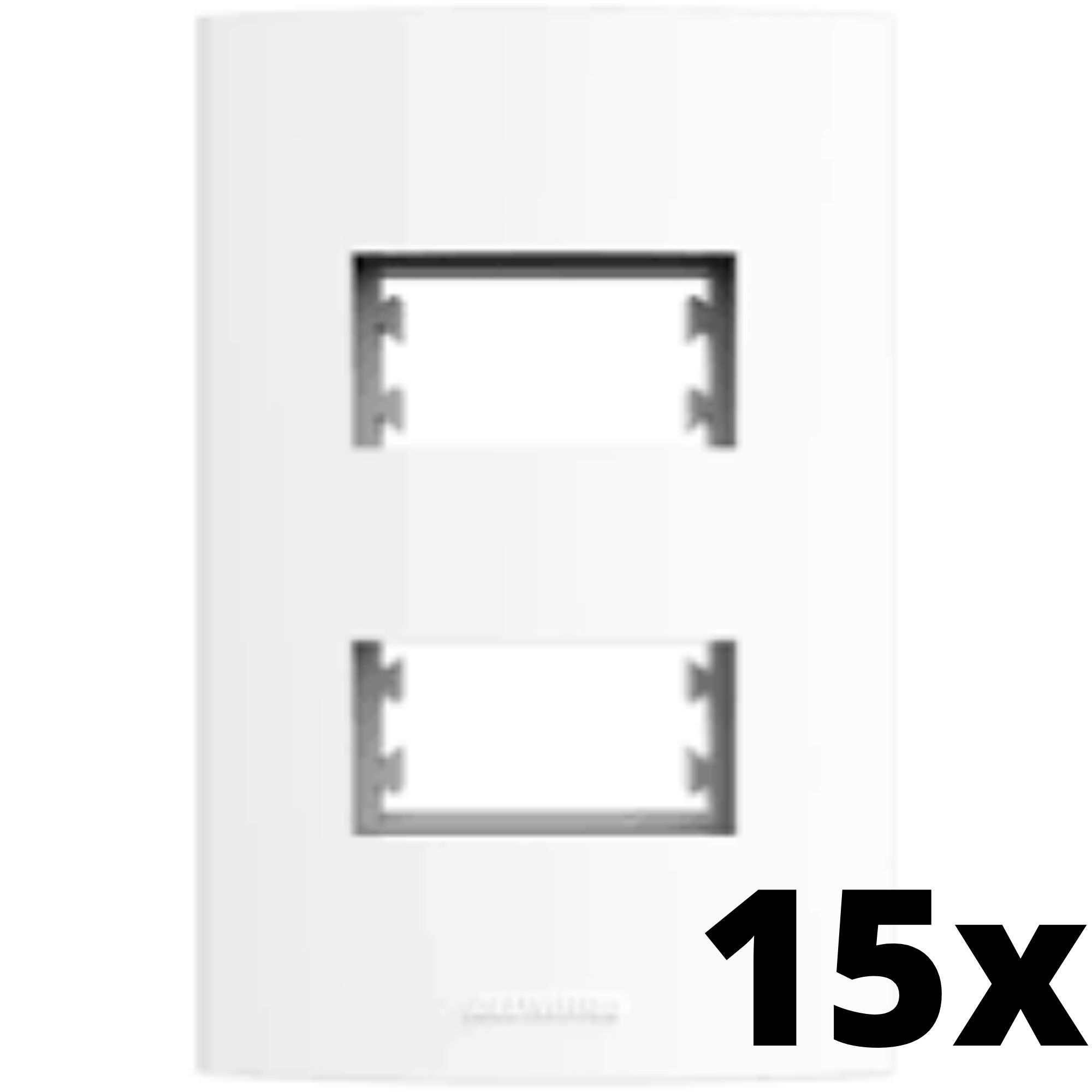 Kit 15 und Alumbra Bianco Pró Placa 4x2 2 Seções Distanciadas