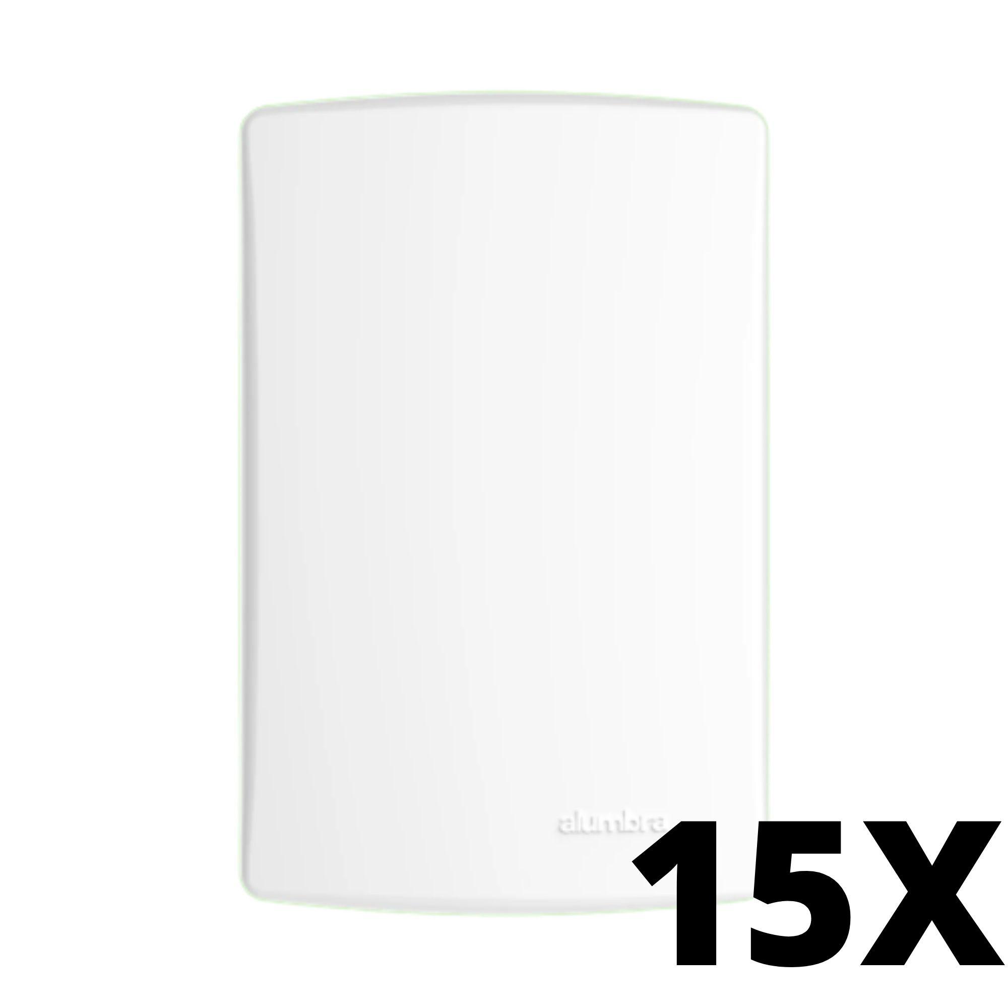 Kit 15 und Alumbra Bianco Pró Placa 4x2 Cega