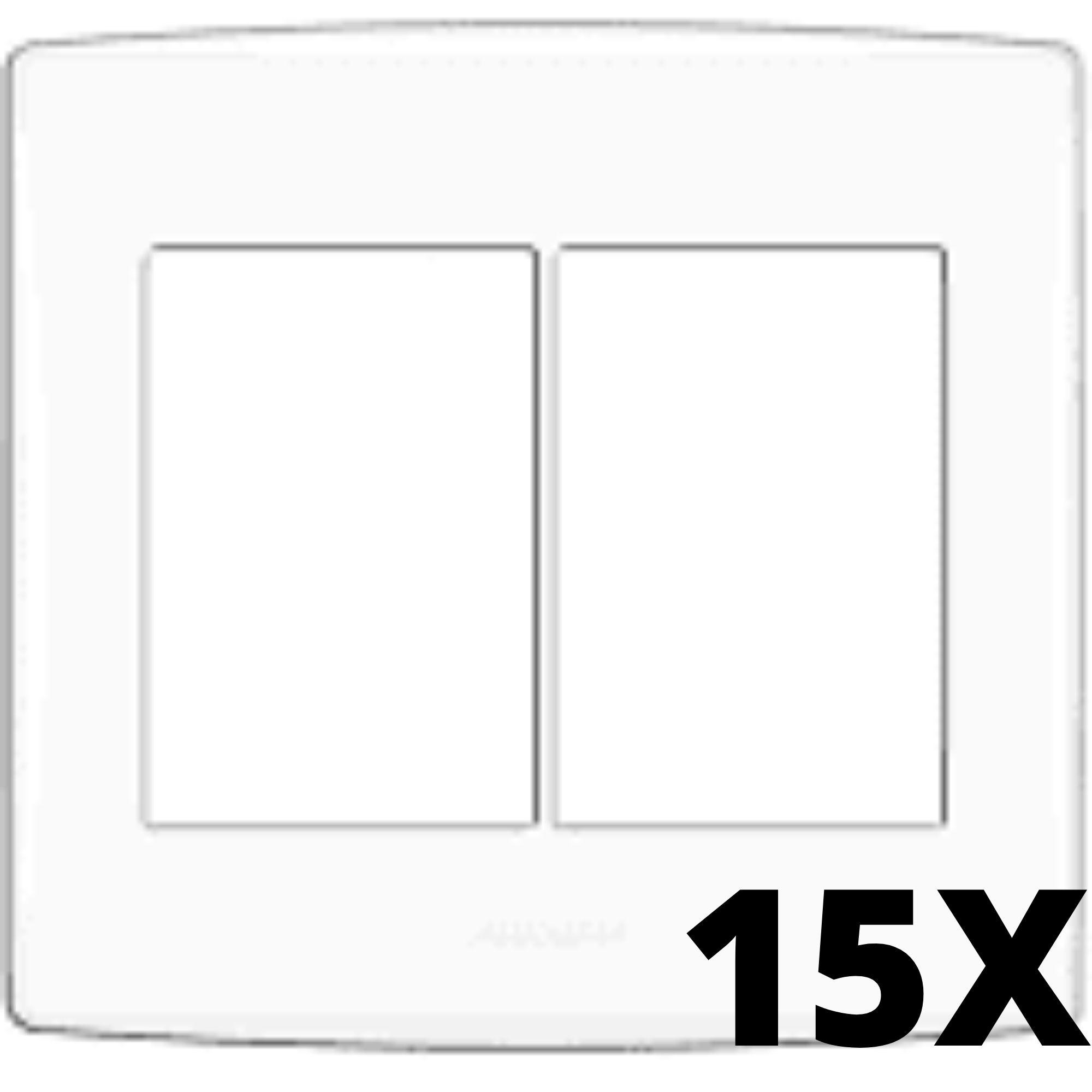 Kit 15 und Alumbra Bianco Pró Placa 4x4 3 Seções + 3 Seções