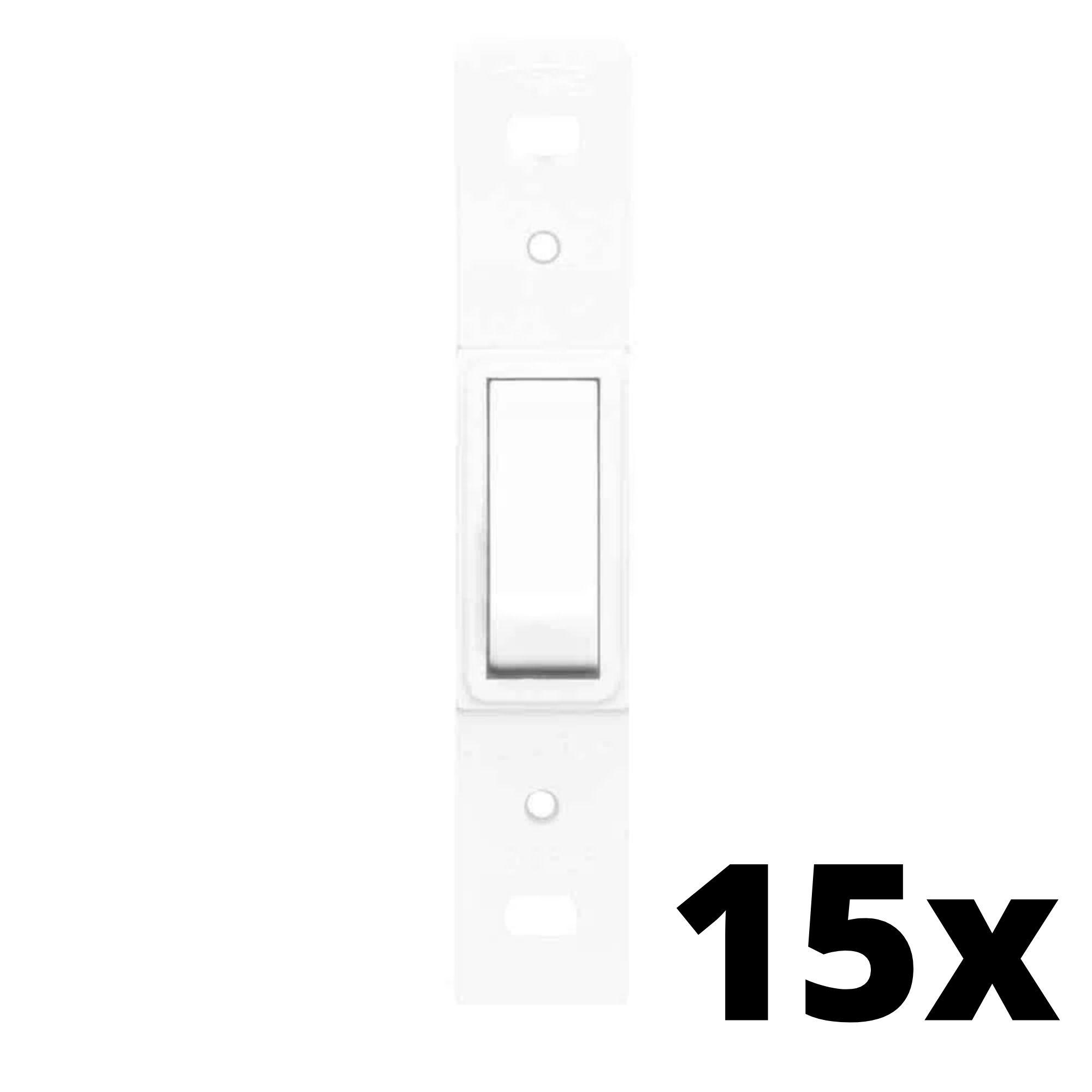 Kit 15 und Blanc 1 Seção de Interruptor Simples Sem Placa