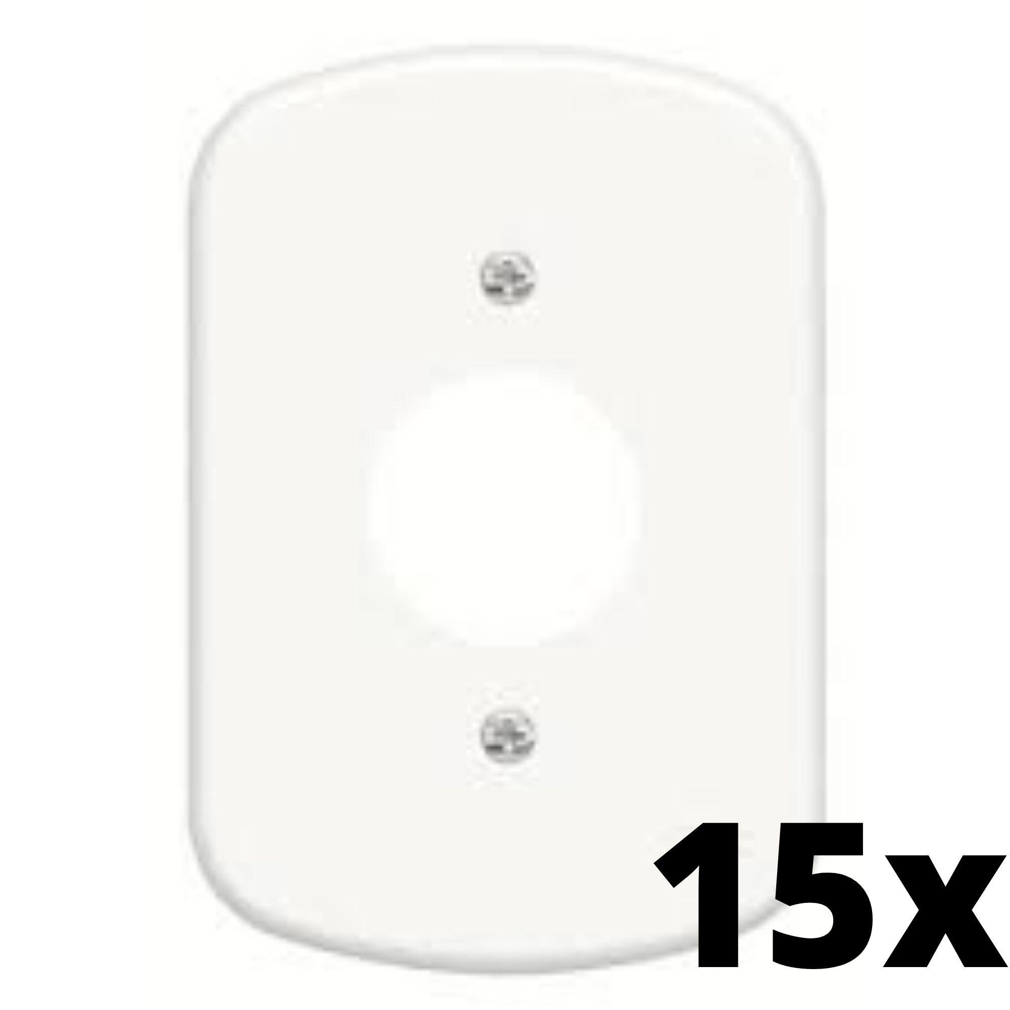Kit 15 und Blanc Placa 4x2 1 Seção Para Tomada