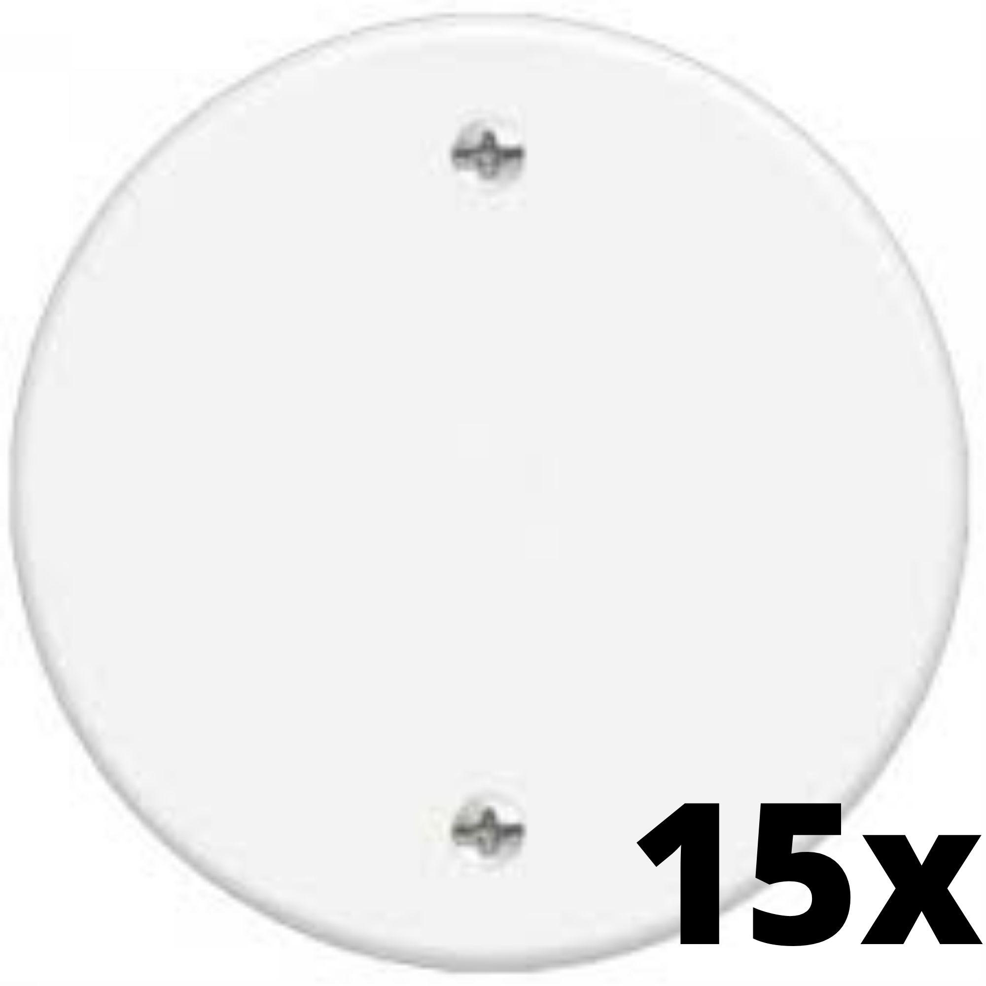 Kit 15 und Blanc Placa Redonda Cega 3 Cm