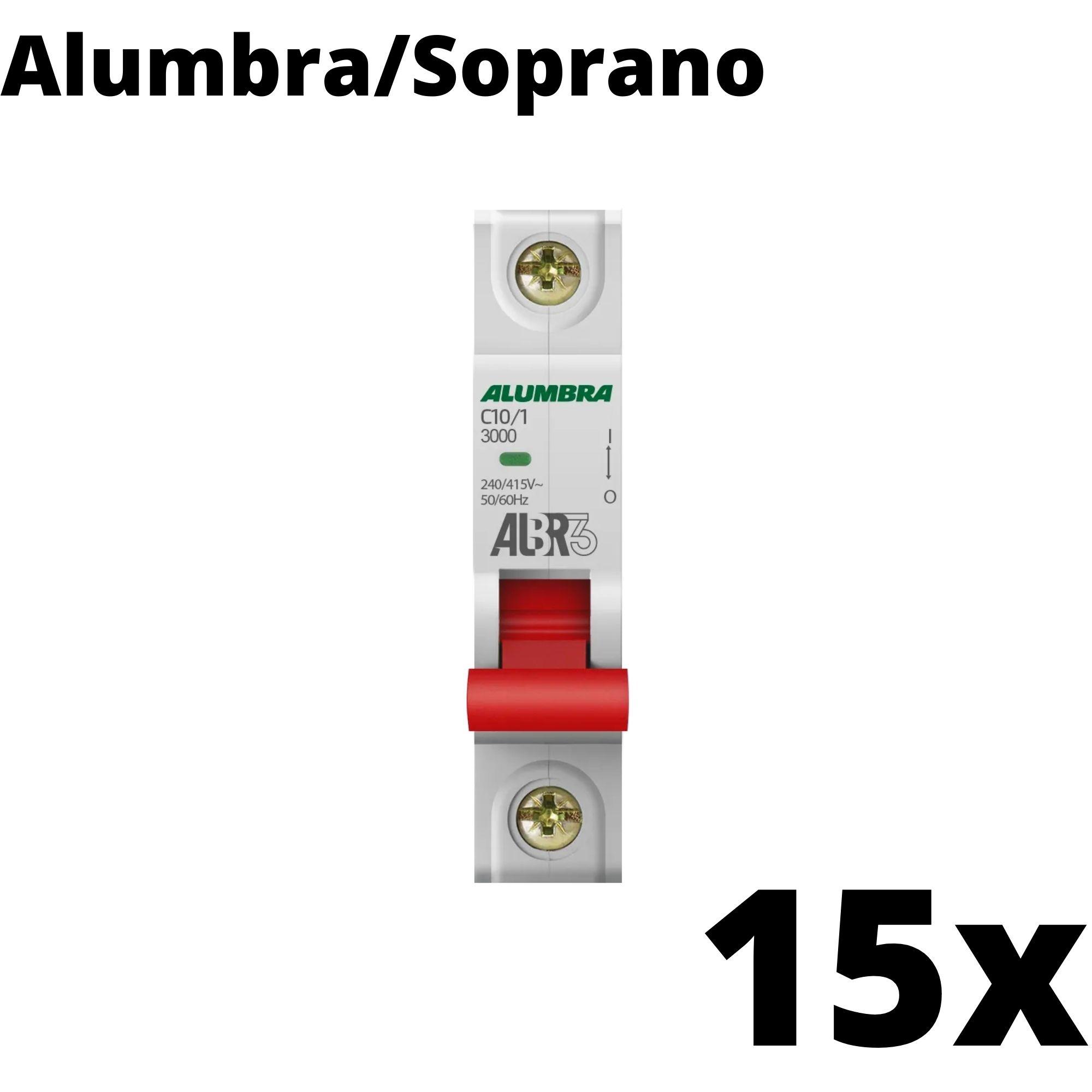 Kit 15 und Disjuntor Din Mono 10A