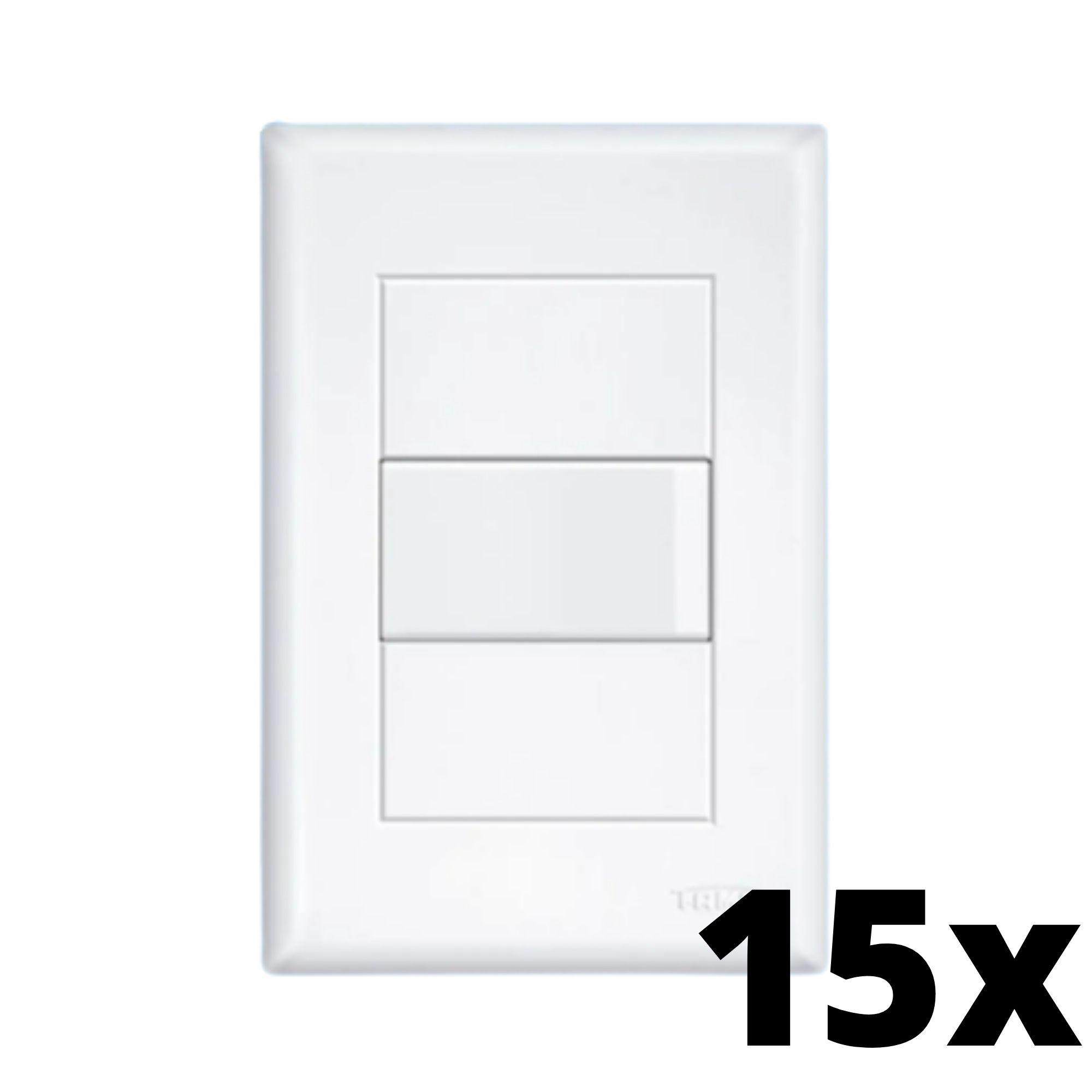 Kit 15 und Evidence 1 Seção de Interruptor Simples Com Placa