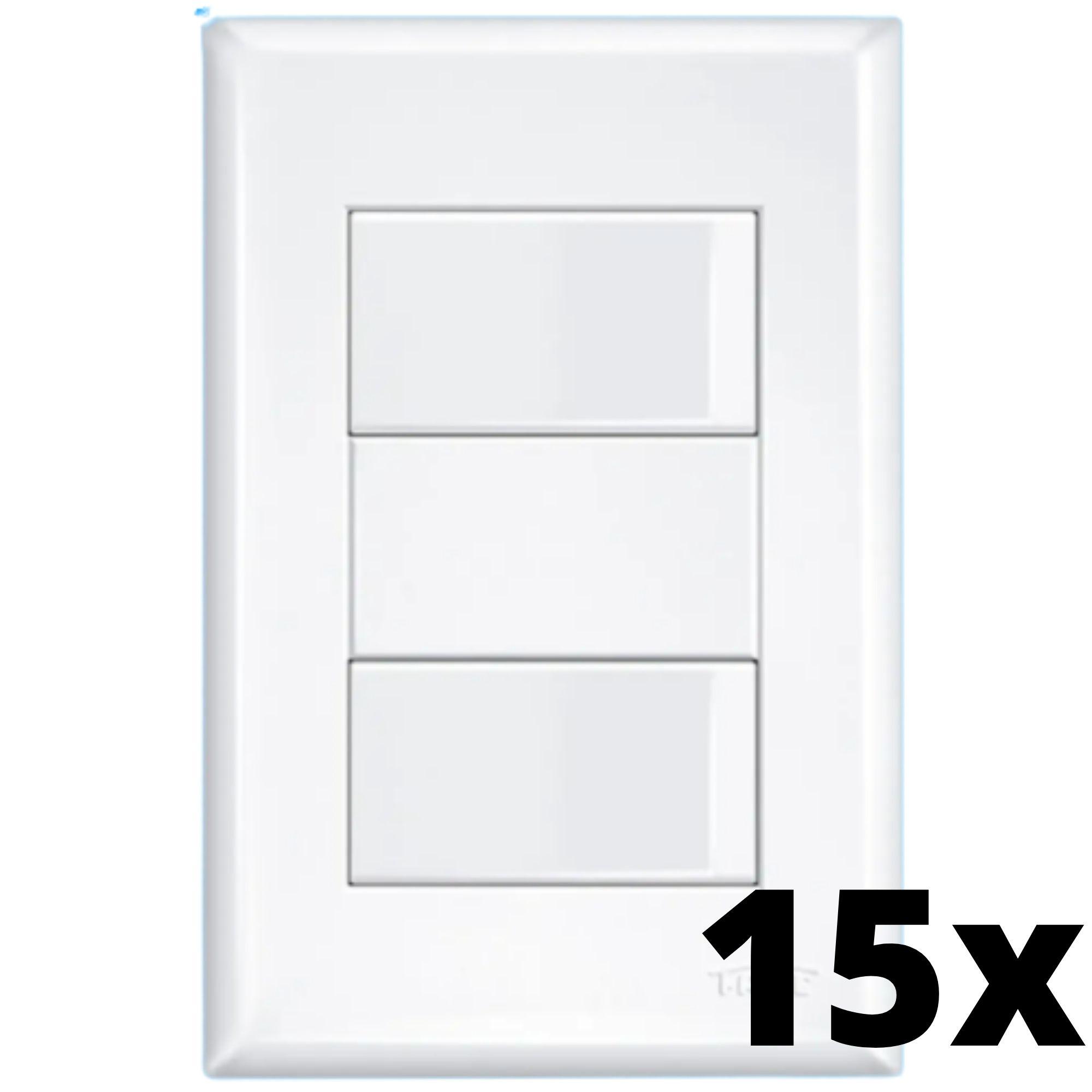 Kit 15 und Evidence 2 Seções de Interruptor Simples Com Placa