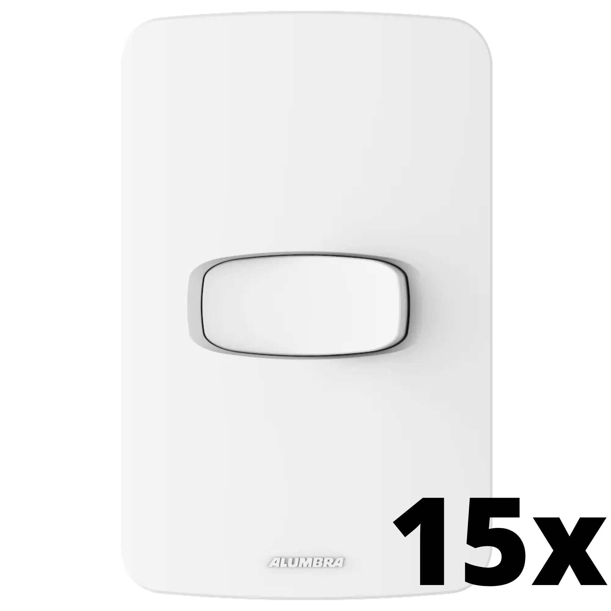 Kit 15 und Gracia 1 Seção de Interruptor Simples Com Placa