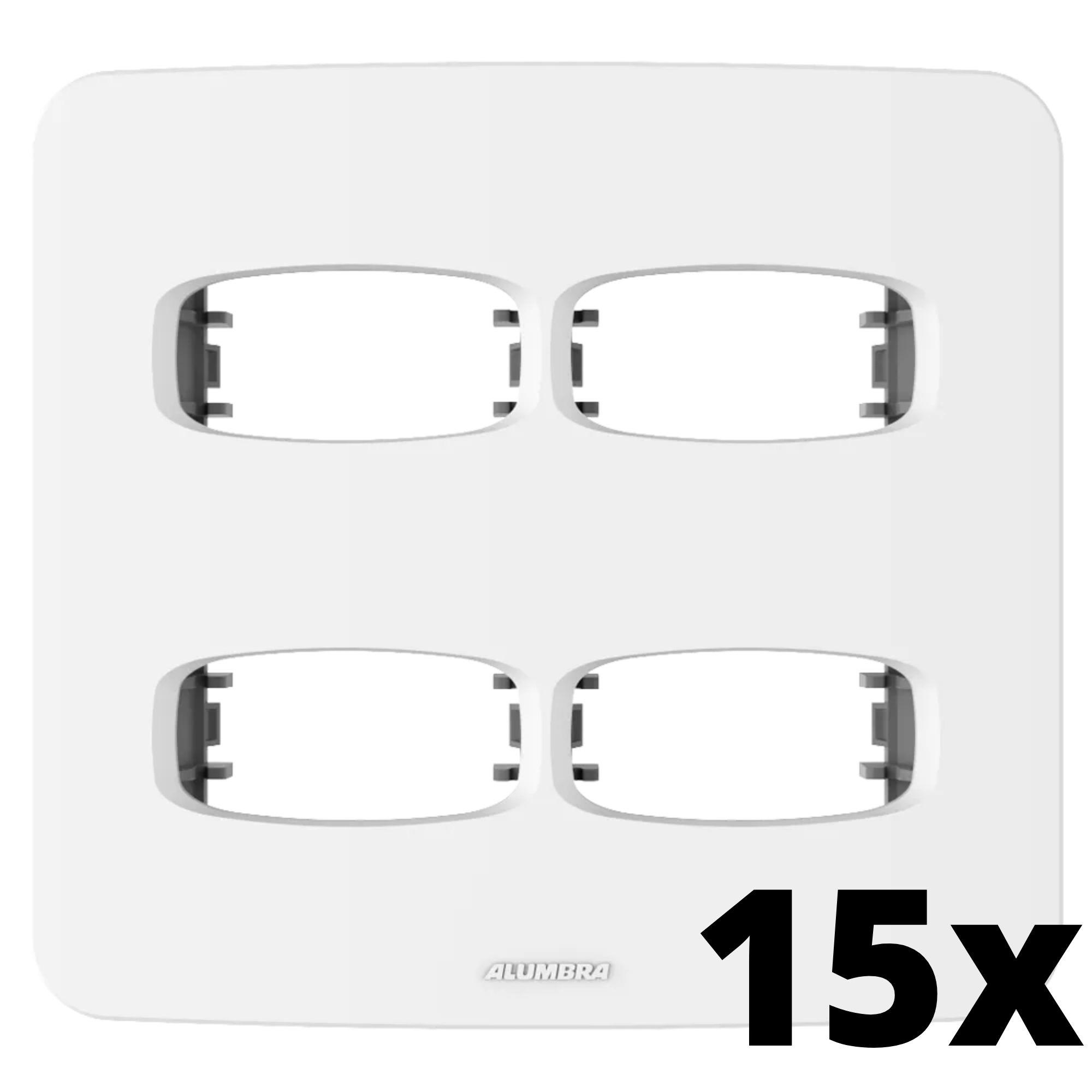Kit 15 und Gracia Placa 4x4 2 Seções + 2 Seções