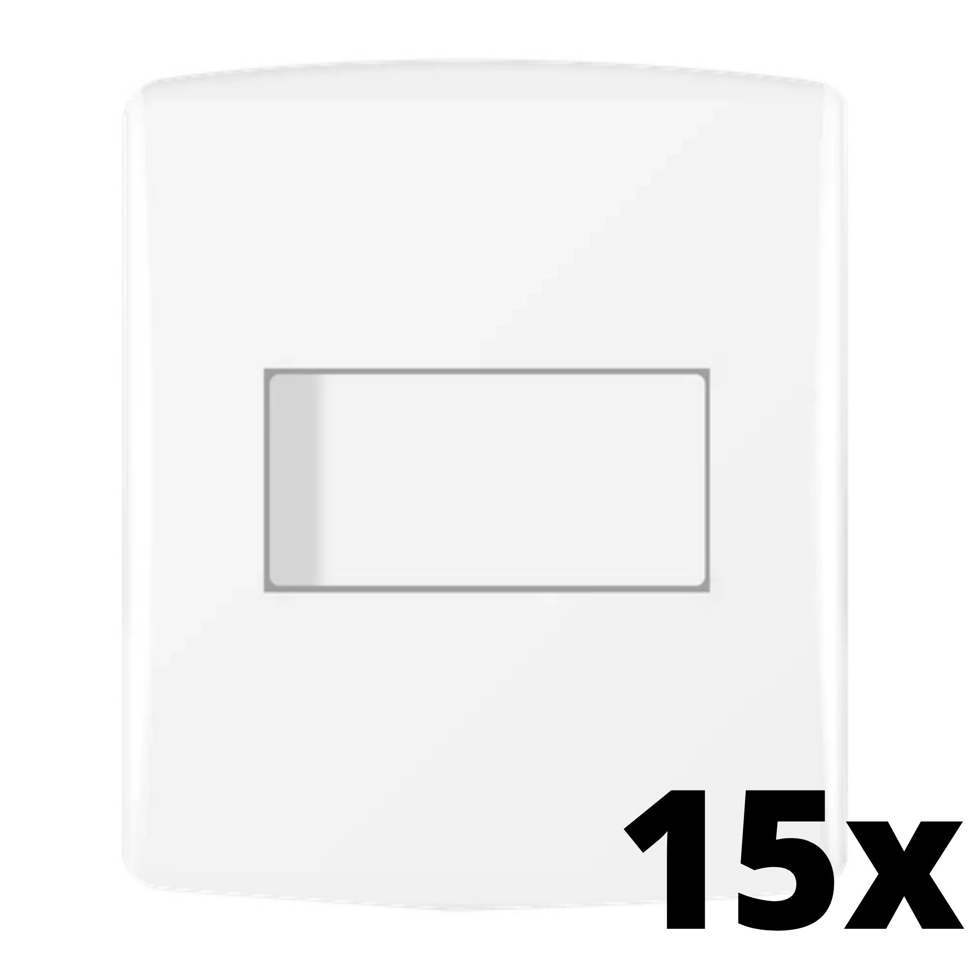Kit 15 und Siena 1 Seção de Interruptor Simples