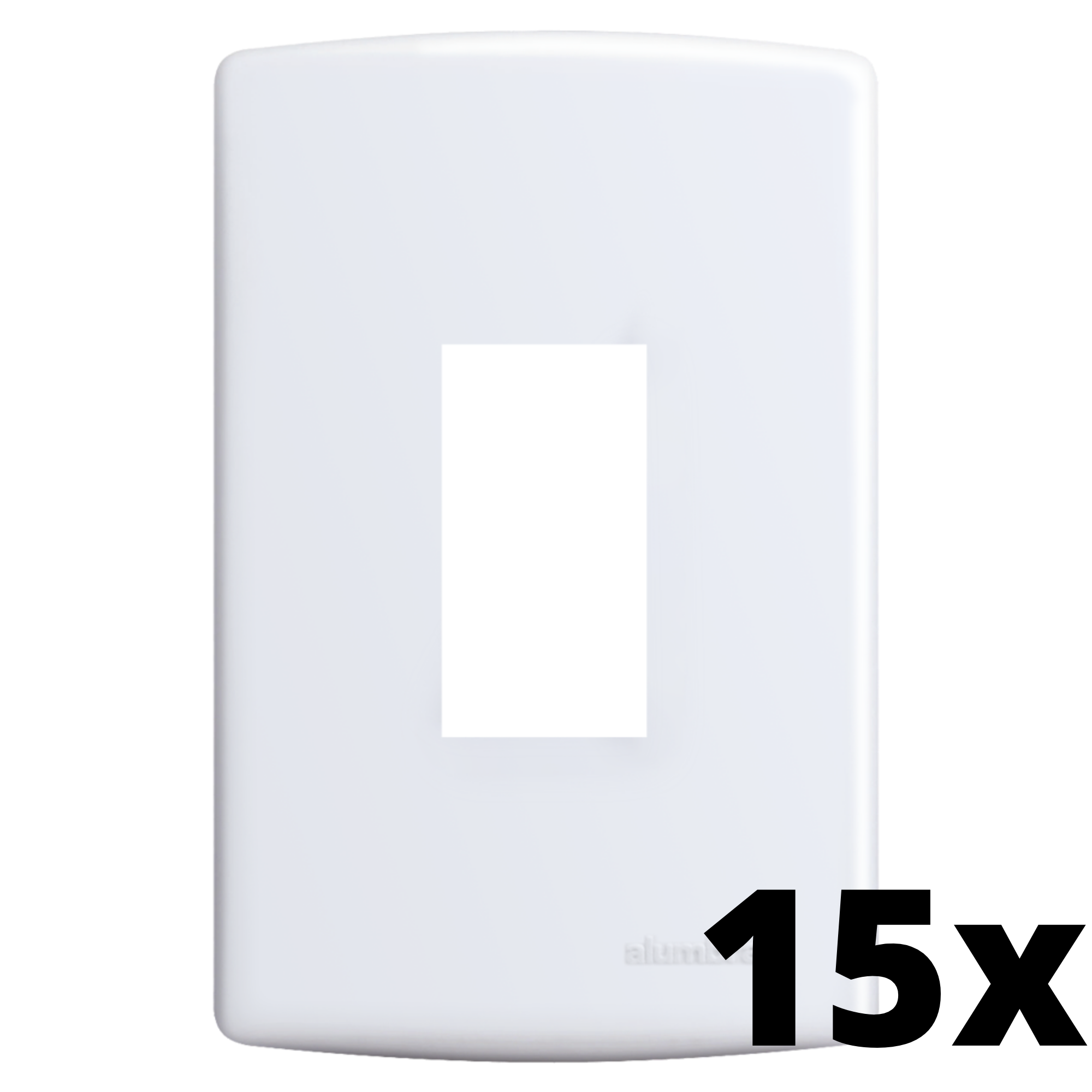 Kit 15 und Siena Placa 4x2 1 Seção Vertical